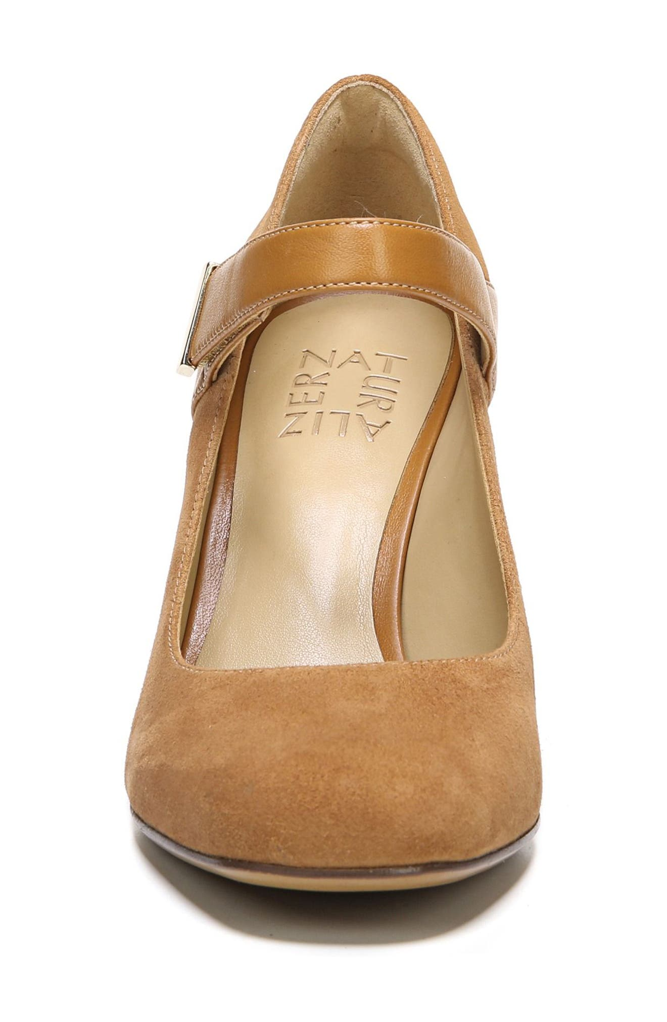 Reva Mary Jane Pump,                             Alternate thumbnail 4, color,                             Camelot Suede