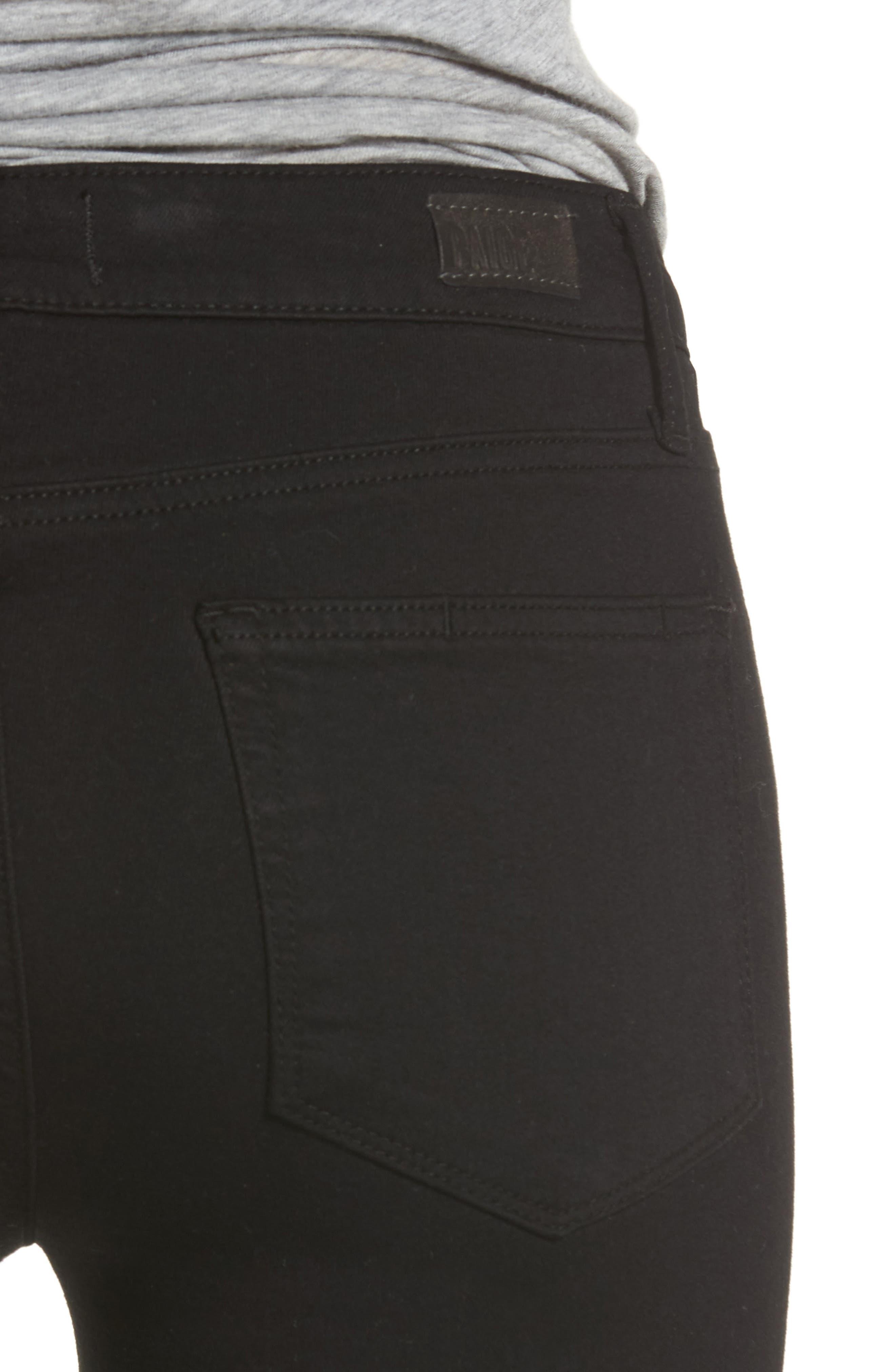 Alternate Image 4  - PAIGE Transcend - Manhattan Bootcut Jeans (Black Shadow)
