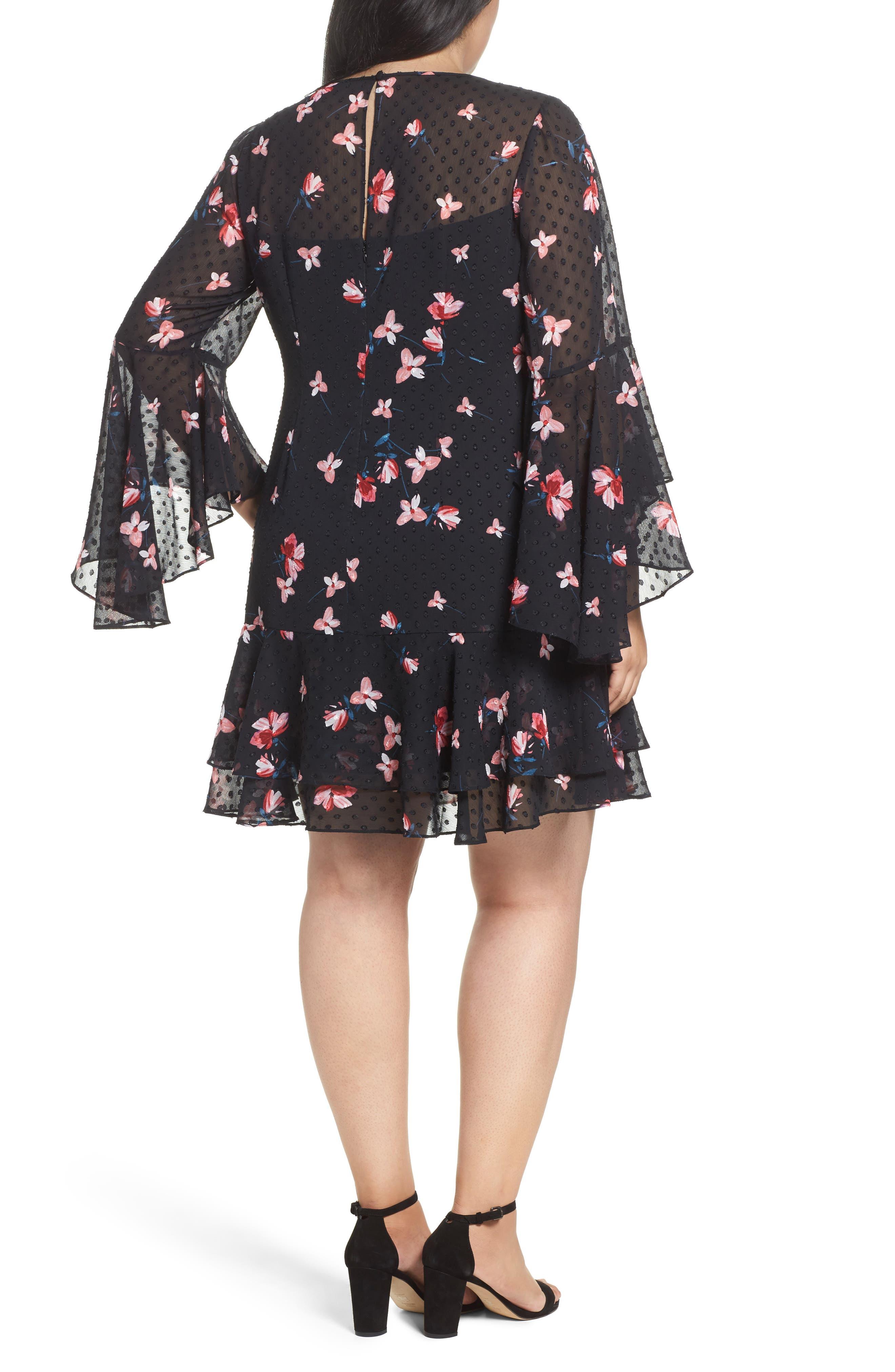Alternate Image 3  - Eliza J Ruffle Fit & Flare Dress (Plus Size)