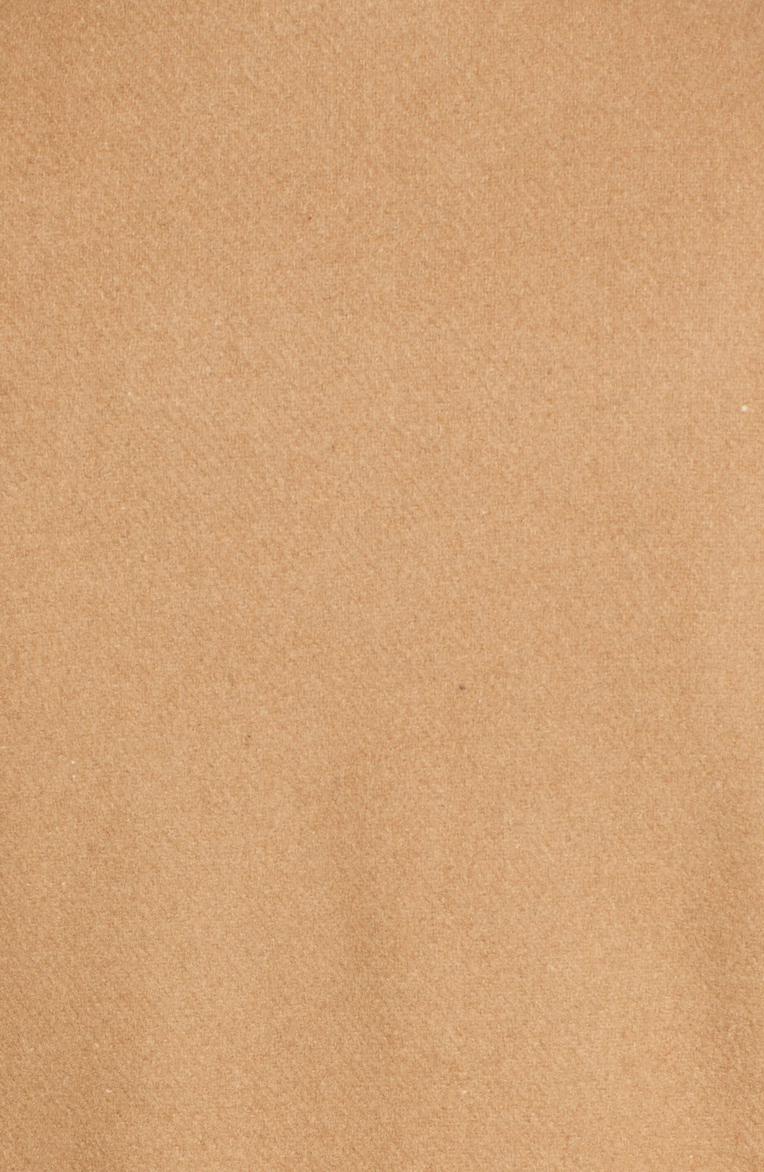 Flange Belted Coat,                             Alternate thumbnail 5, color,                             Camel