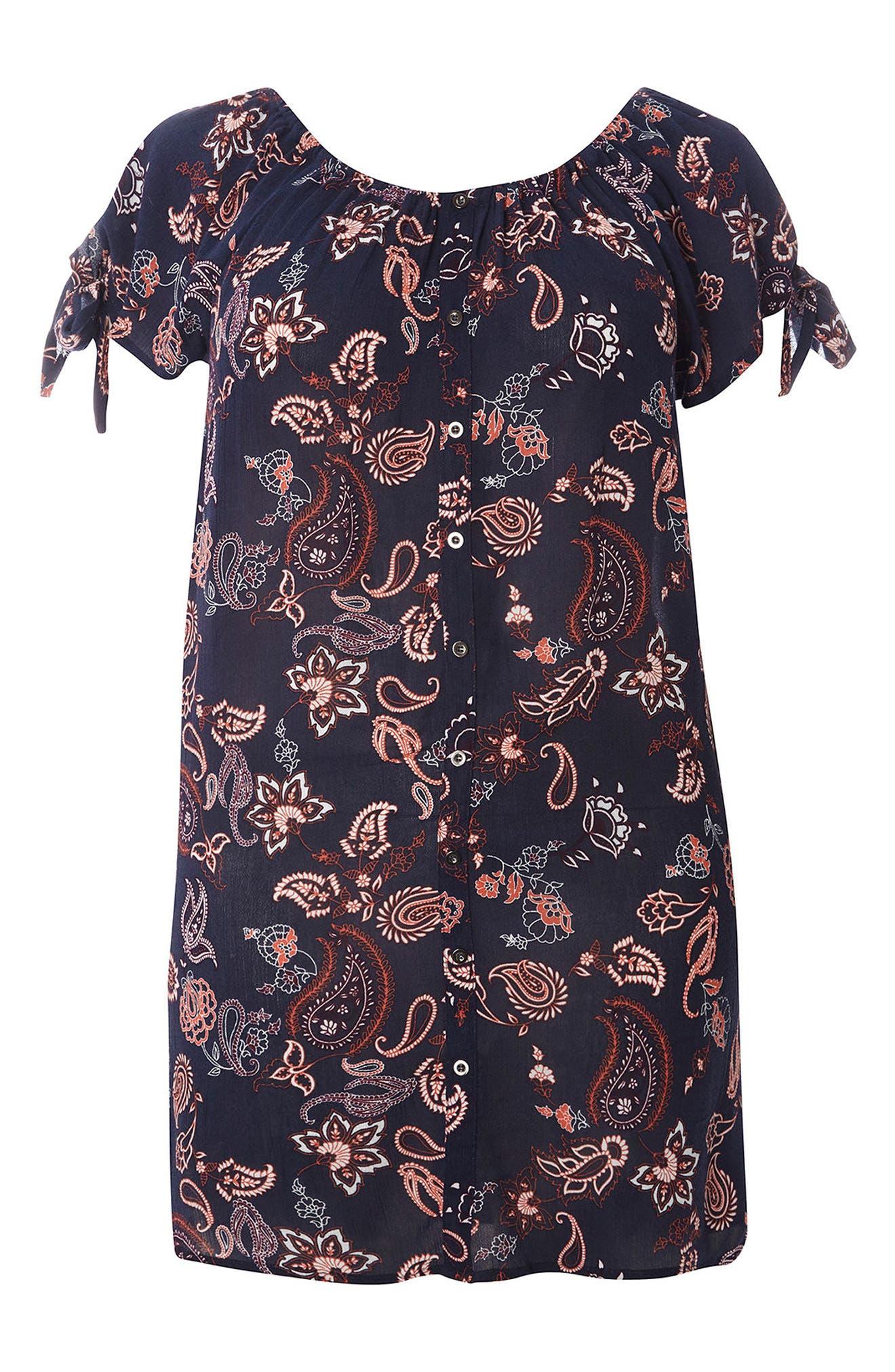 EVANS Paisley Floral Tunic