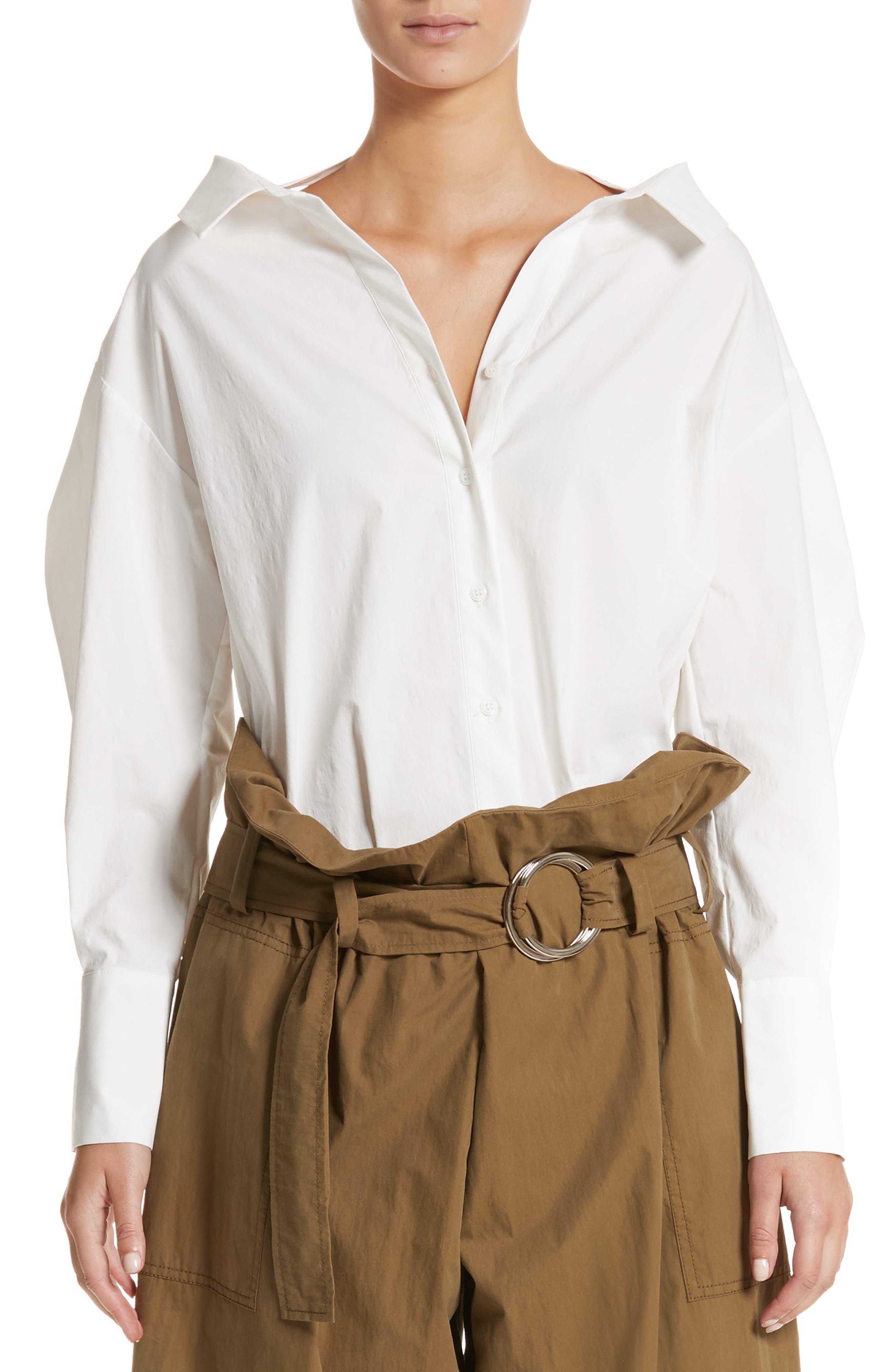 Main Image - Rejina Pyo Rosa Strap Detail Poplin Shirt