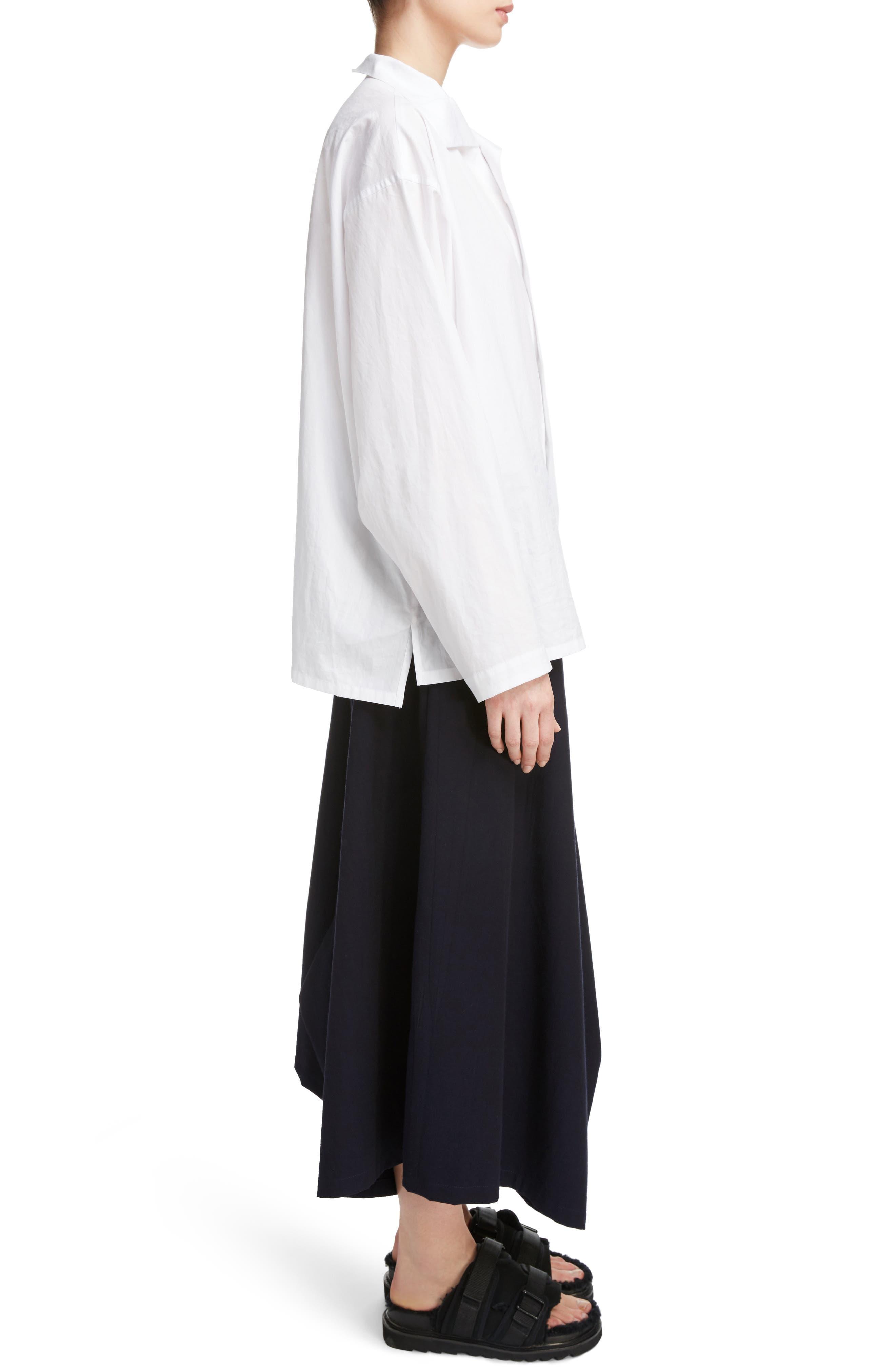 Alternate Image 3  - Y's by Yohji Yamamoto Asymmetrical Collar Blouse