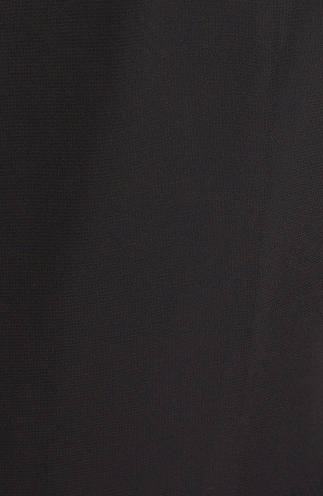 Avianah Lace Trim Fit & Flare Dress,                             Alternate thumbnail 5, color,                             Black