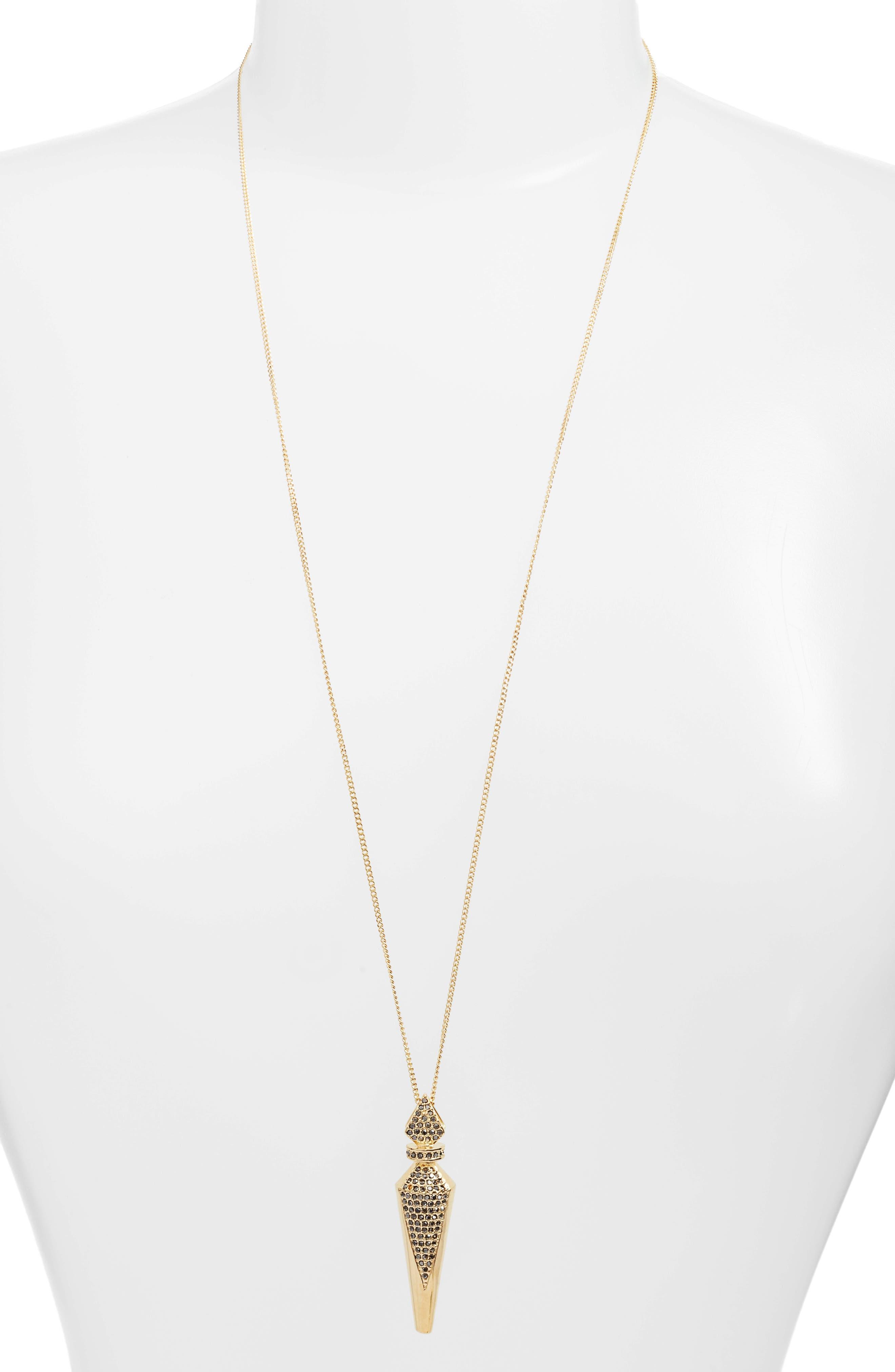 Alternate Image 1 Selected - Vince Camuto Pavé Crystal Pendant Necklace