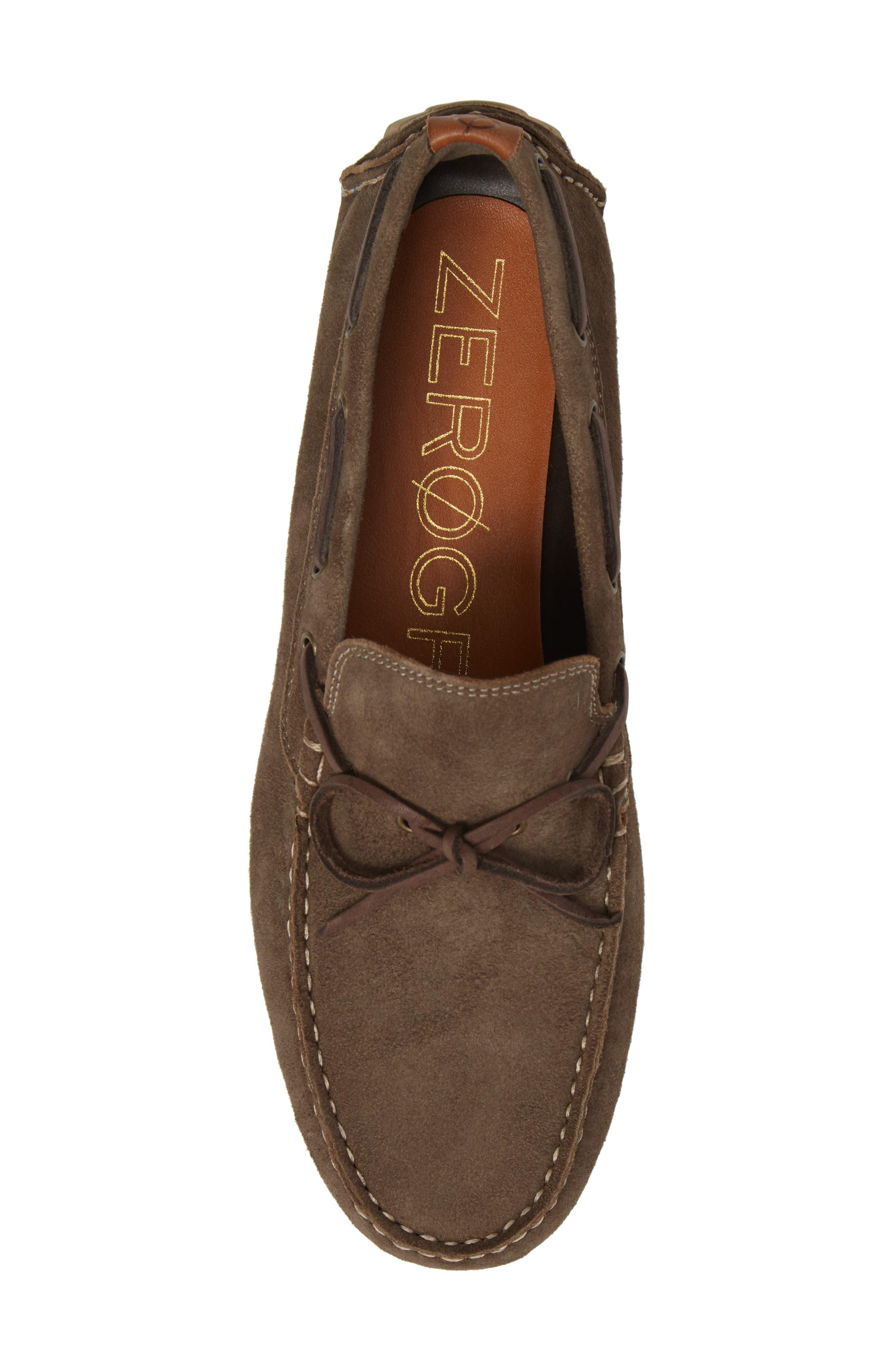 Zero Grand Moc Driving Loafer,                             Alternate thumbnail 5, color,                             Morel Leather