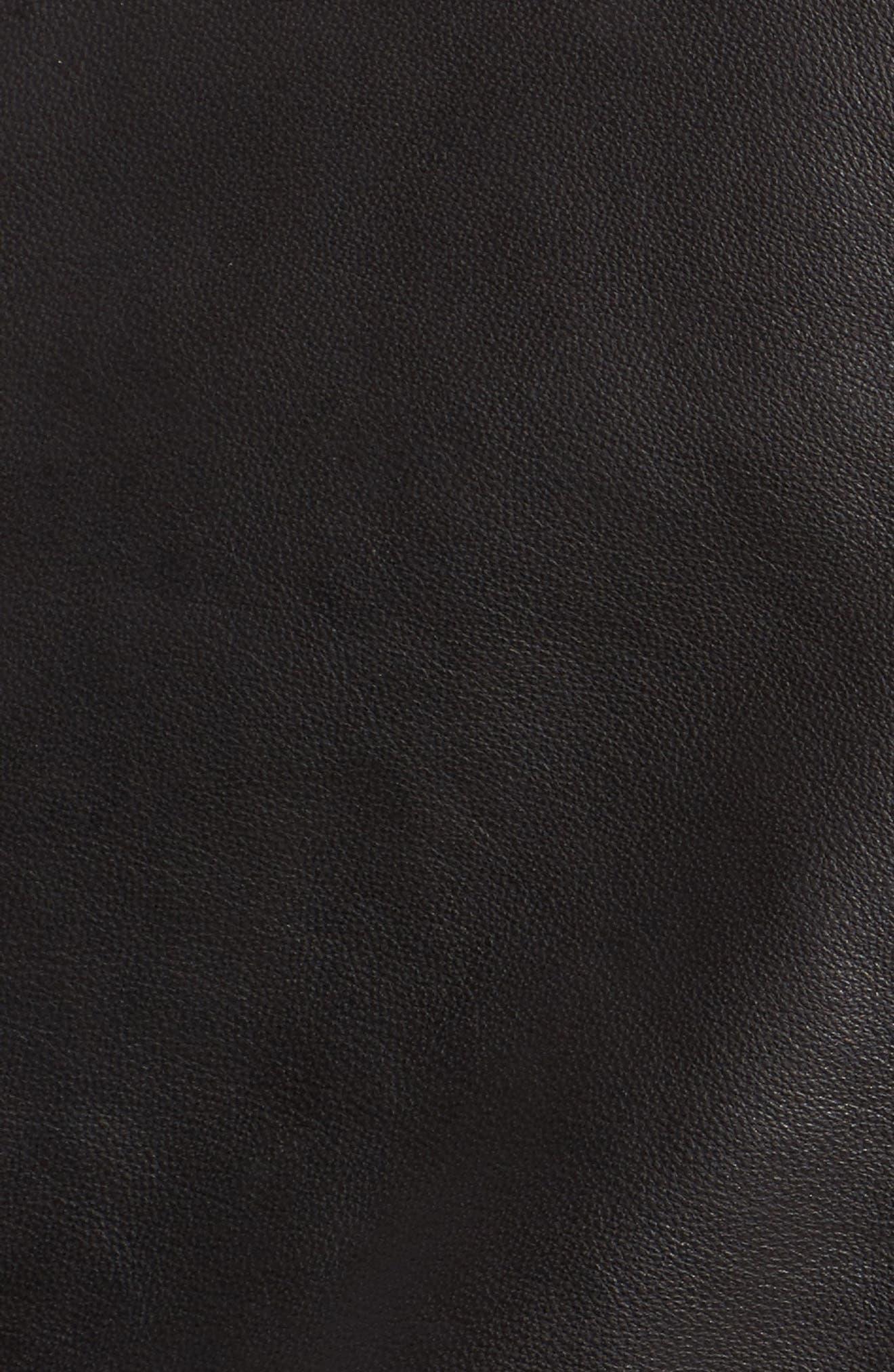Leather Skirt,                             Alternate thumbnail 6, color,                             Black