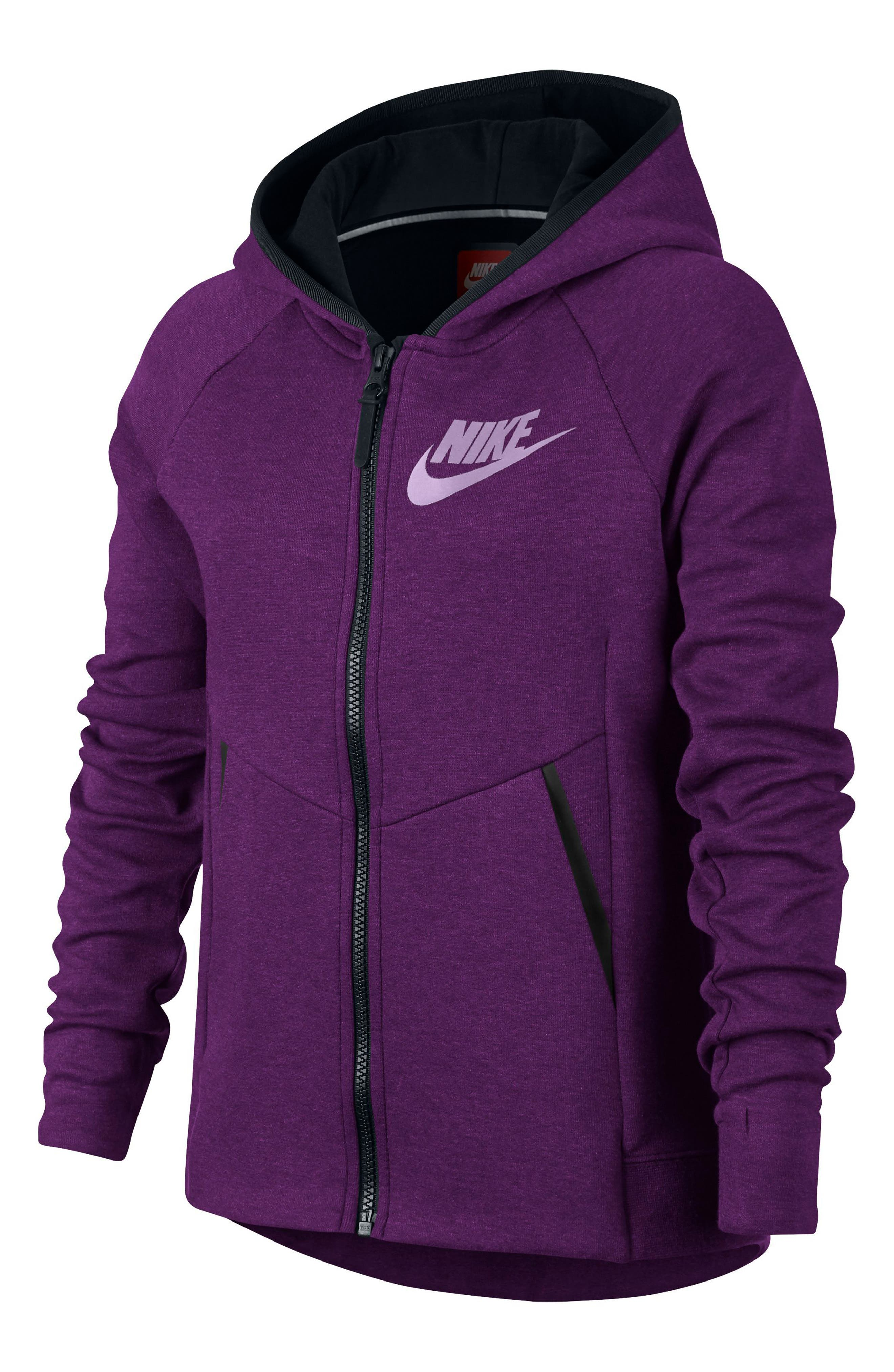 Sportswear Tech Fleece Hoodie,                             Alternate thumbnail 2, color,                             Night Purple/ Black