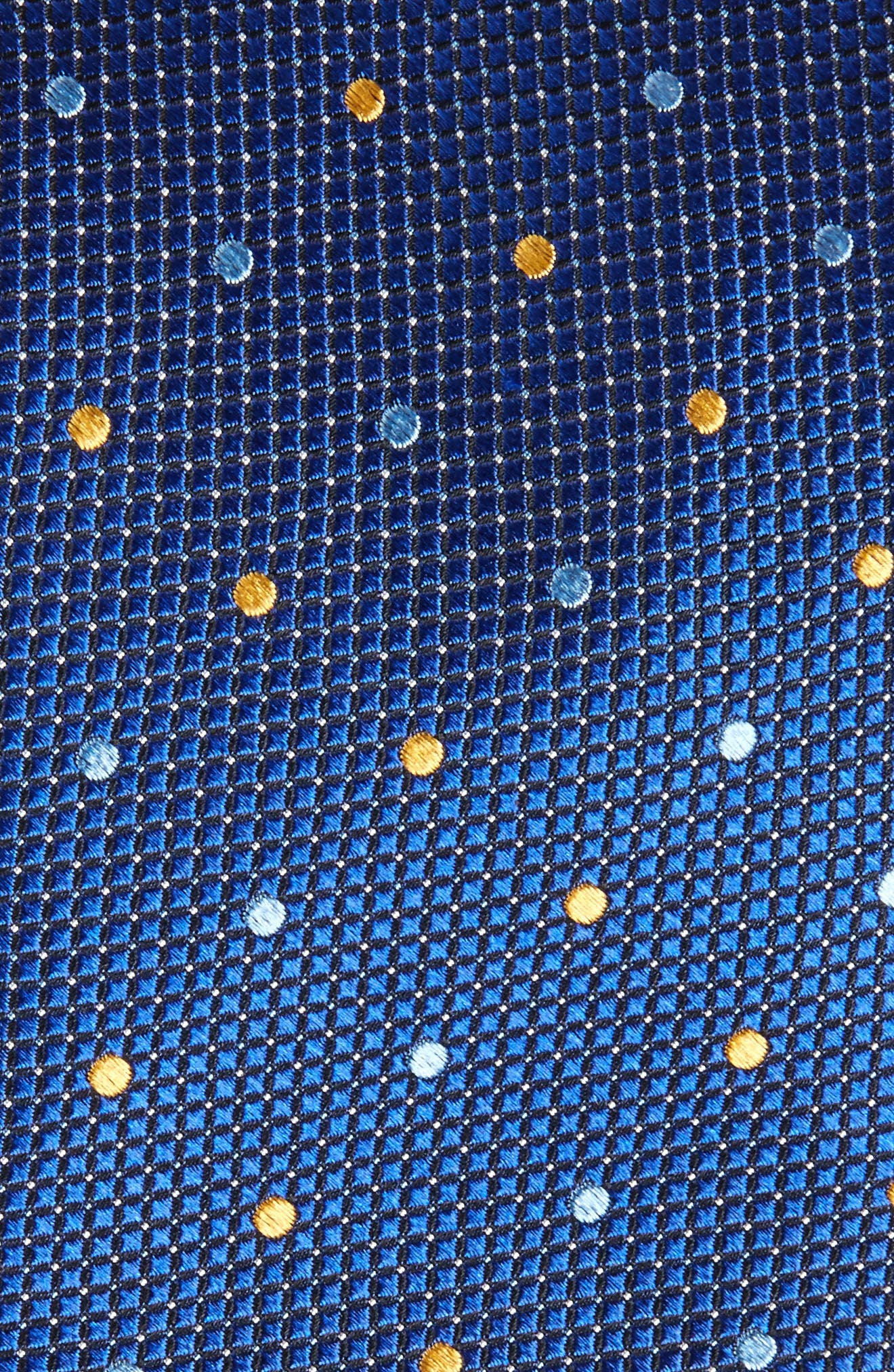 Graphic Dots Silk Tie,                             Alternate thumbnail 2, color,                             Navy