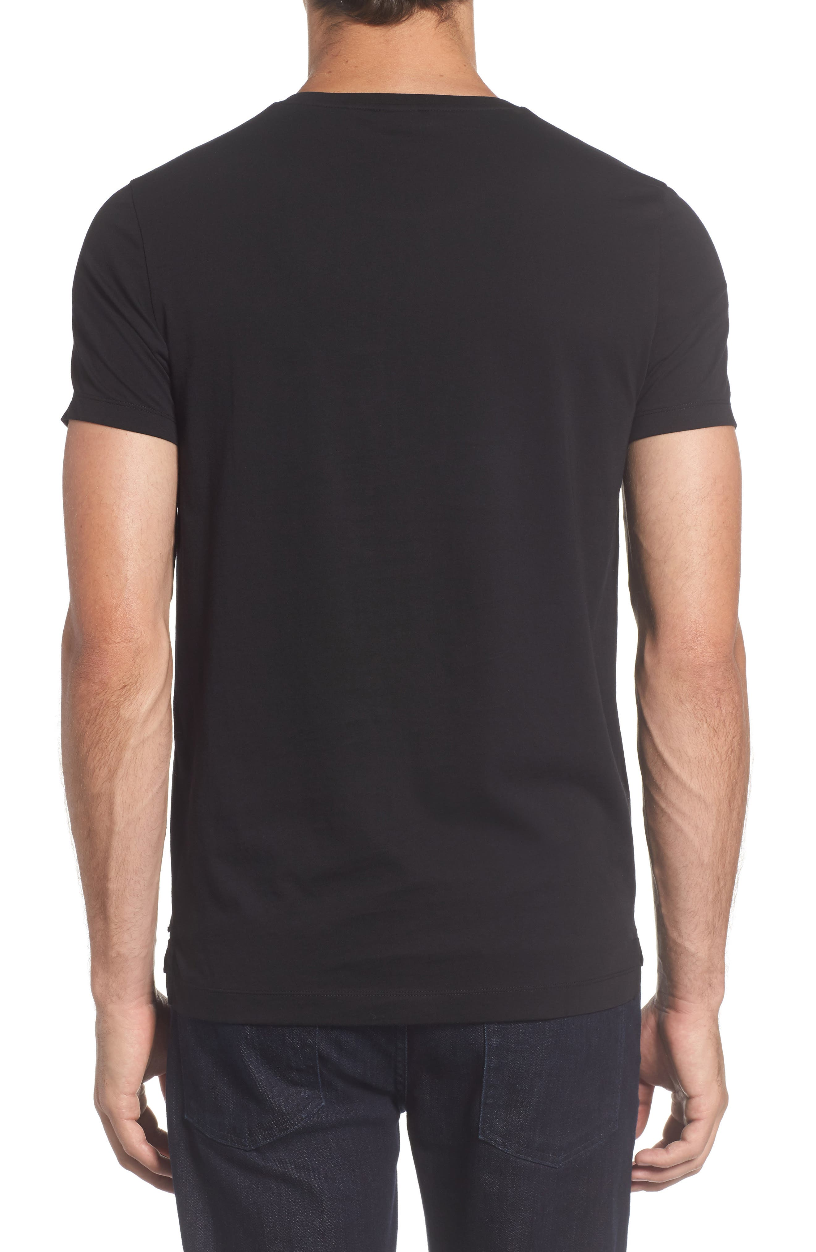 Tessler Crewneck T-Shirt,                             Alternate thumbnail 12, color,                             Black