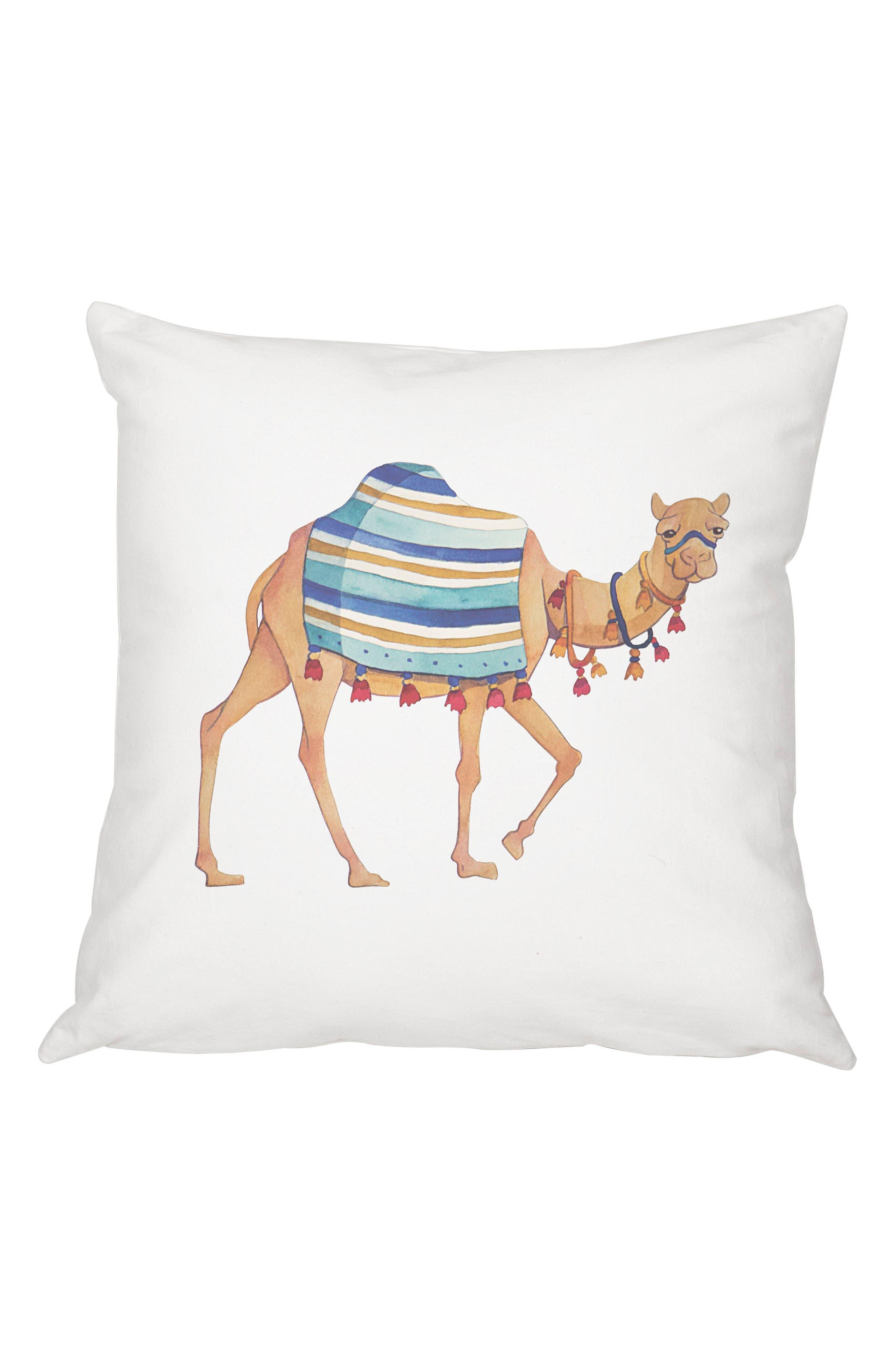 Camel Accent Pillow,                         Main,                         color, Multi
