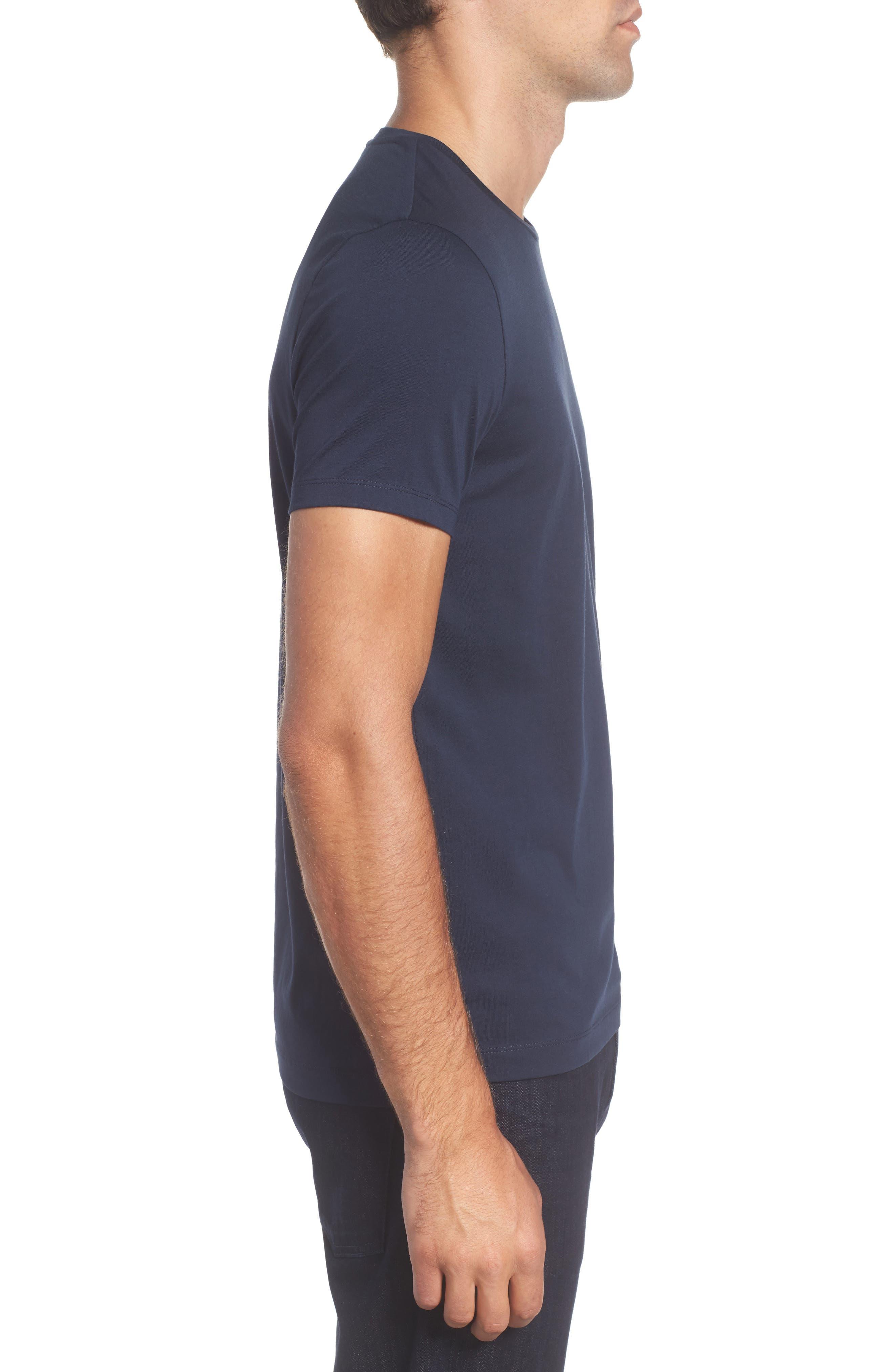 Tessler Crewneck T-Shirt,                             Alternate thumbnail 3, color,                             Black