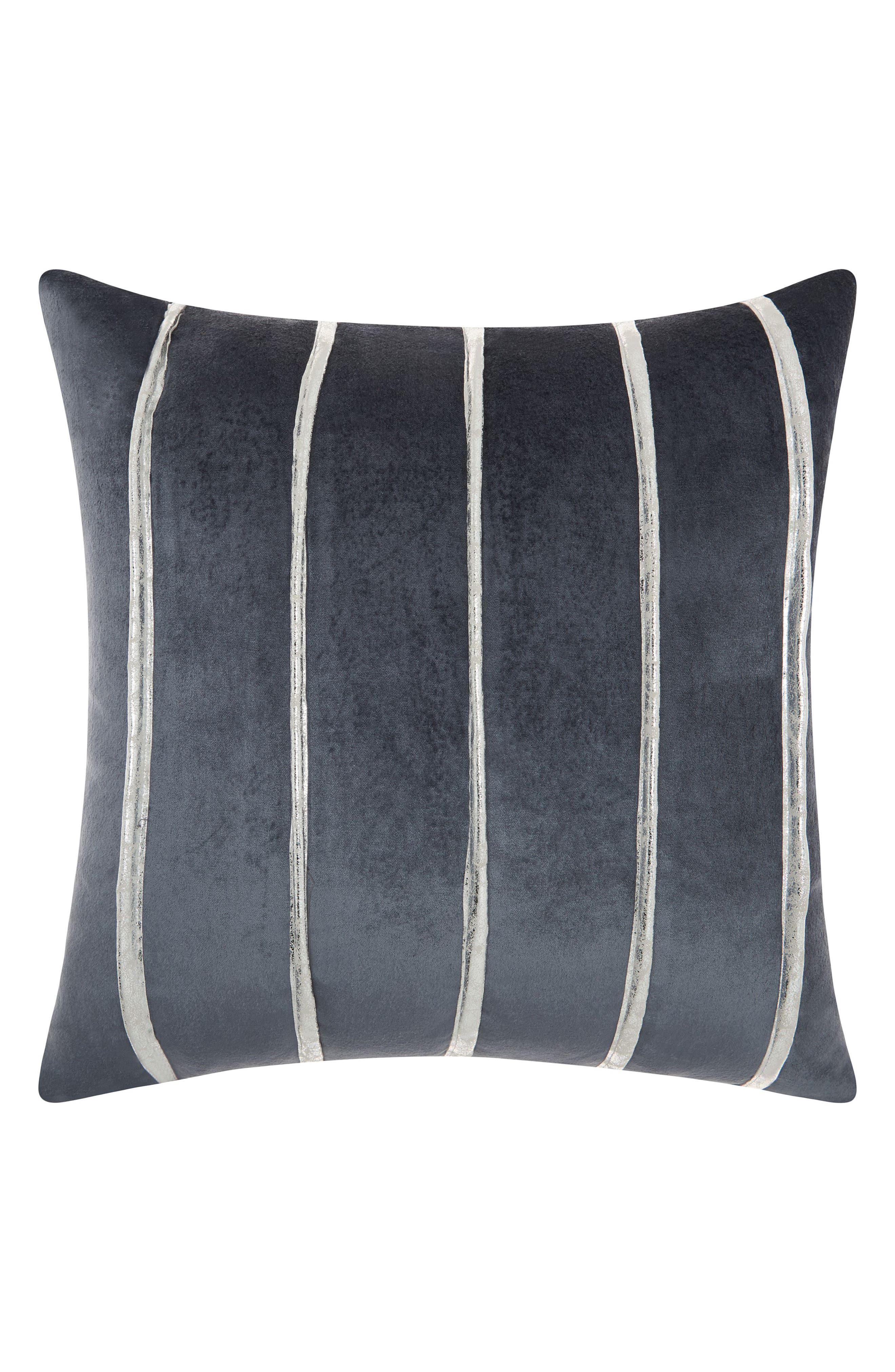Mina Victory Stripe Velvet Accent Pillow