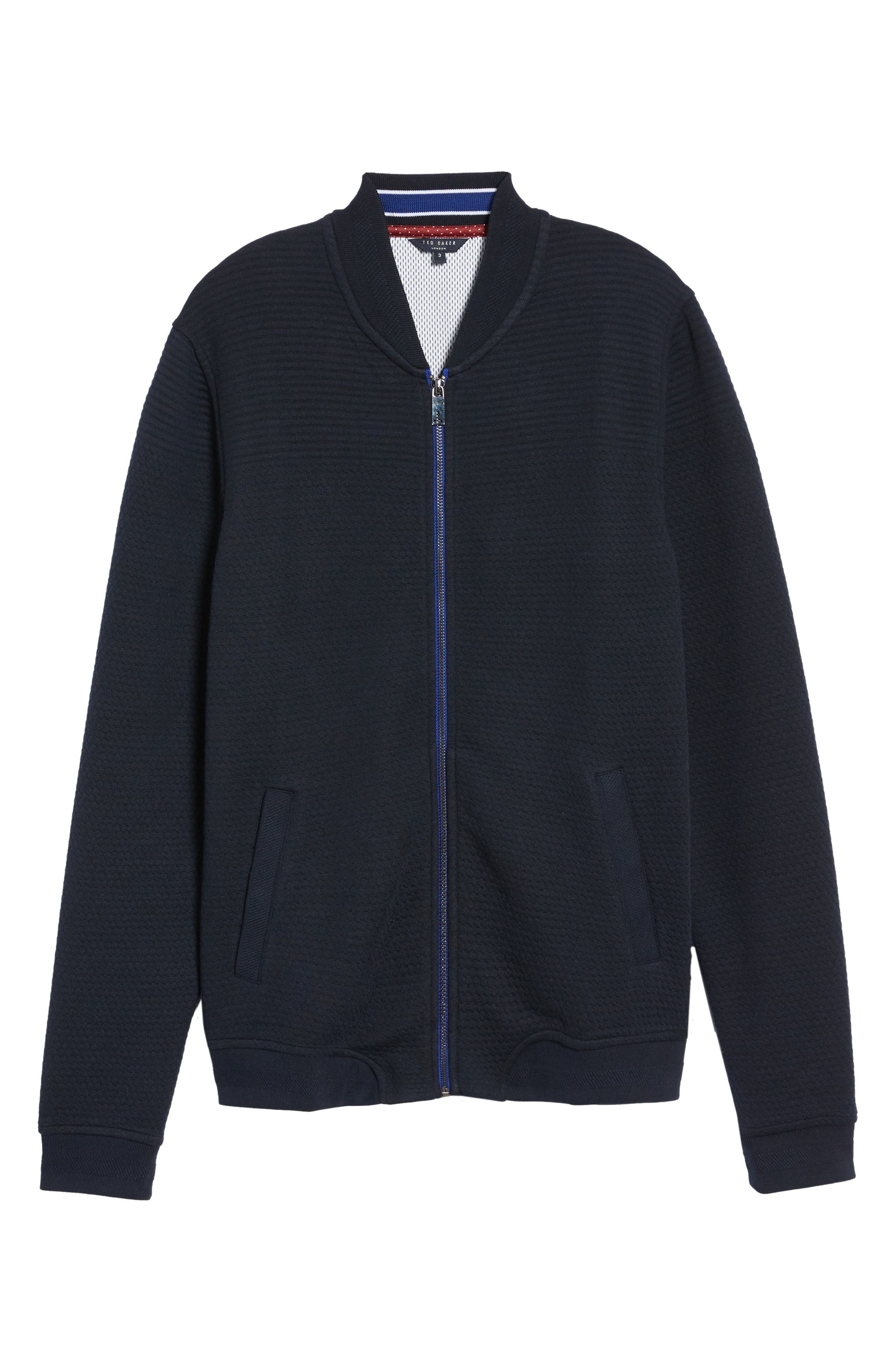 Alternate Image 5  - Ted Baker London Clive Quilted Jersey Bomber Jacket