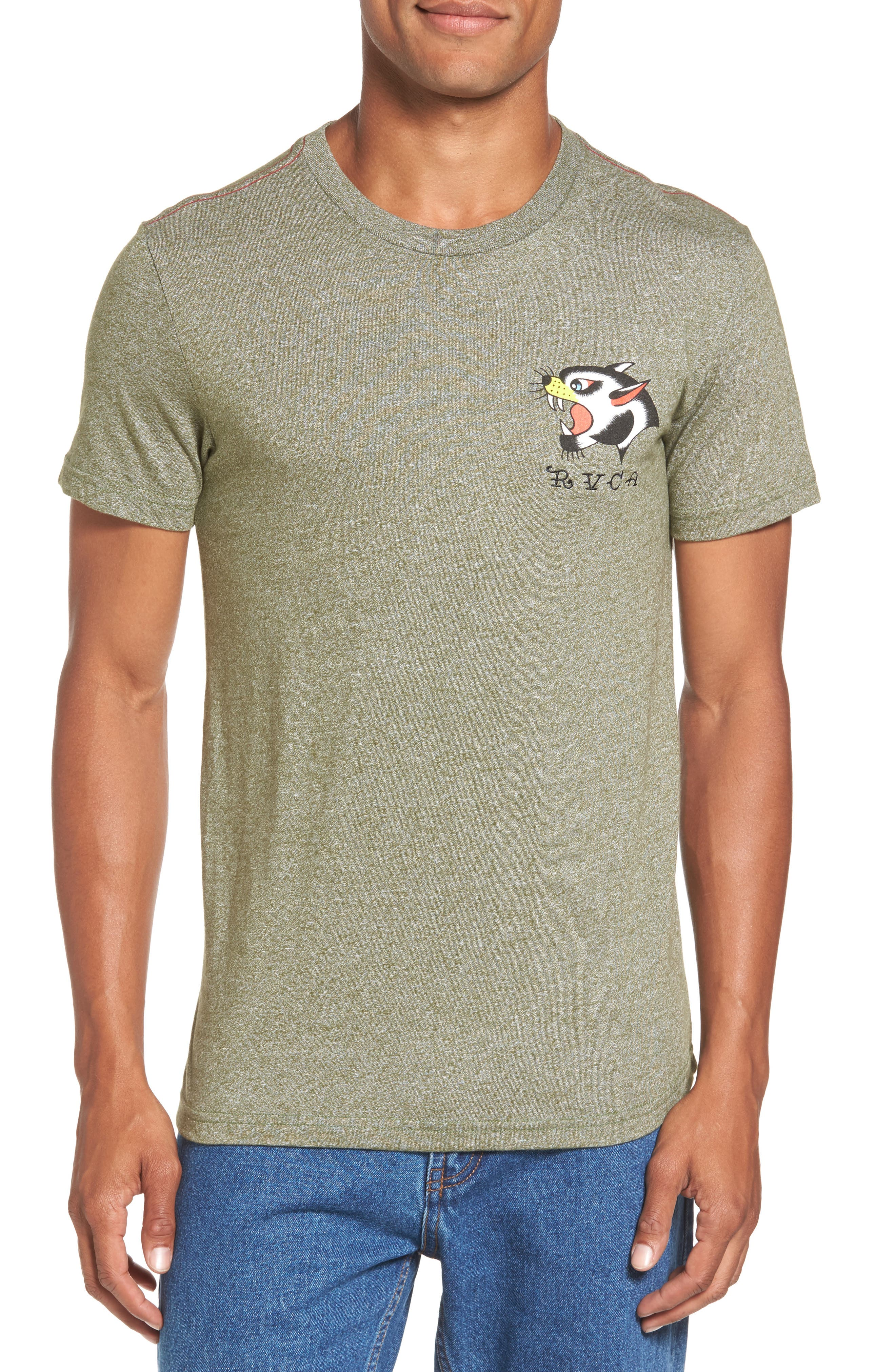 Panther Graphic T-Shirt,                             Main thumbnail 1, color,                             Burnt Olive