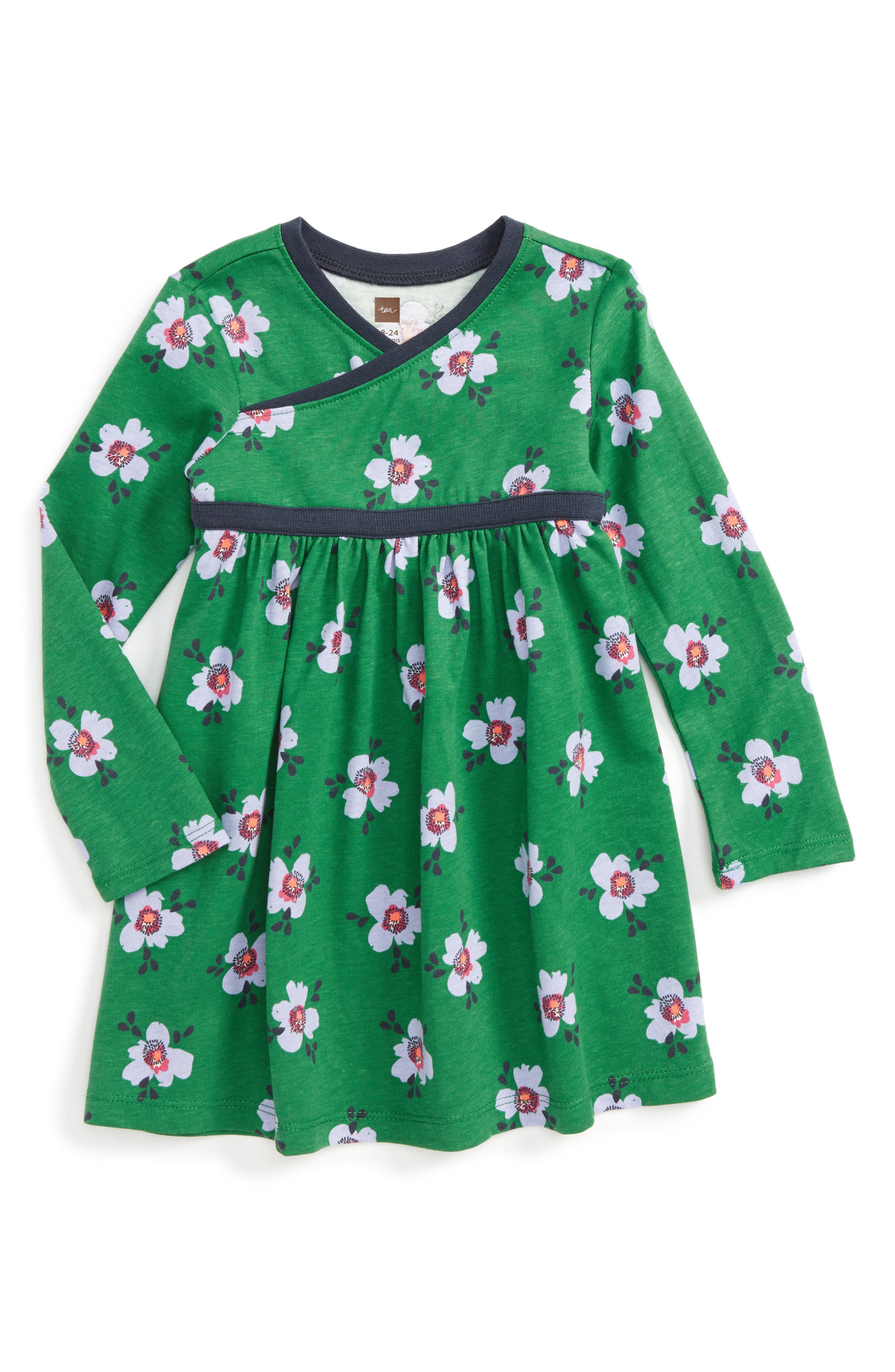 Tea Collection Kelvingrove Wrap Dress (Baby Girls)