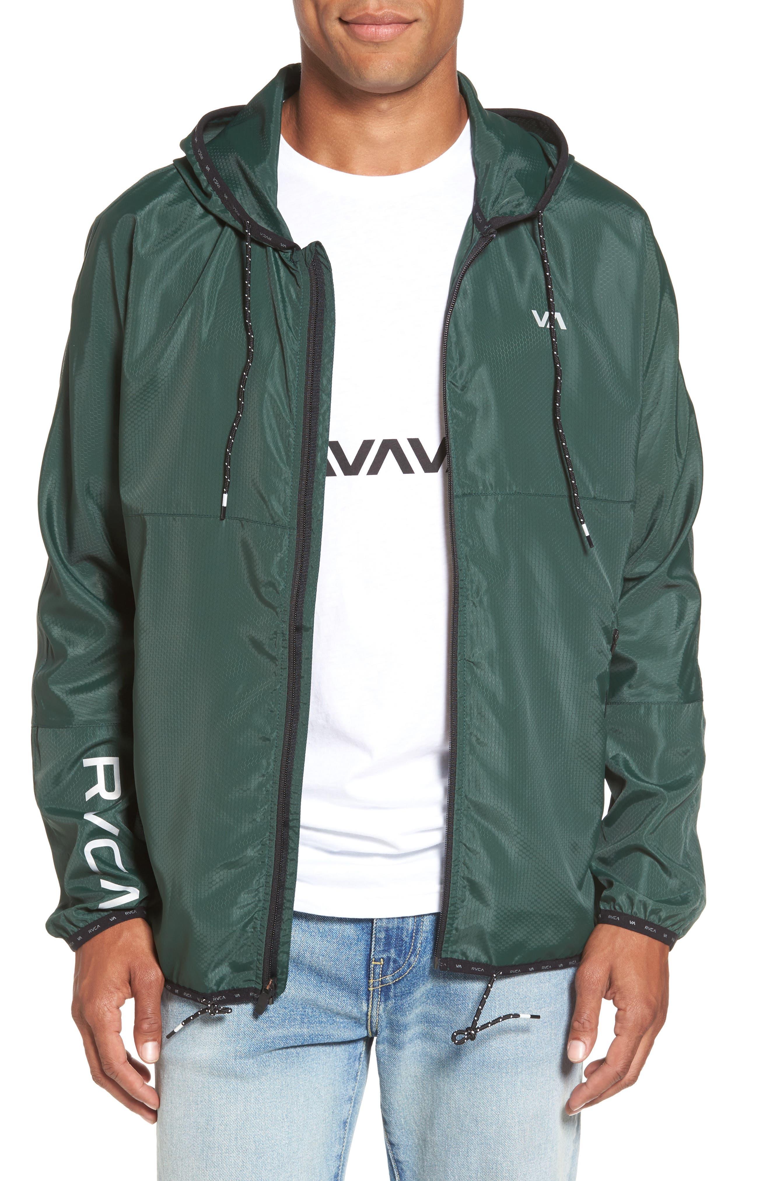 Alternate Image 1 Selected - RVCA Hexstop II Water Repellent Hooded Jacket