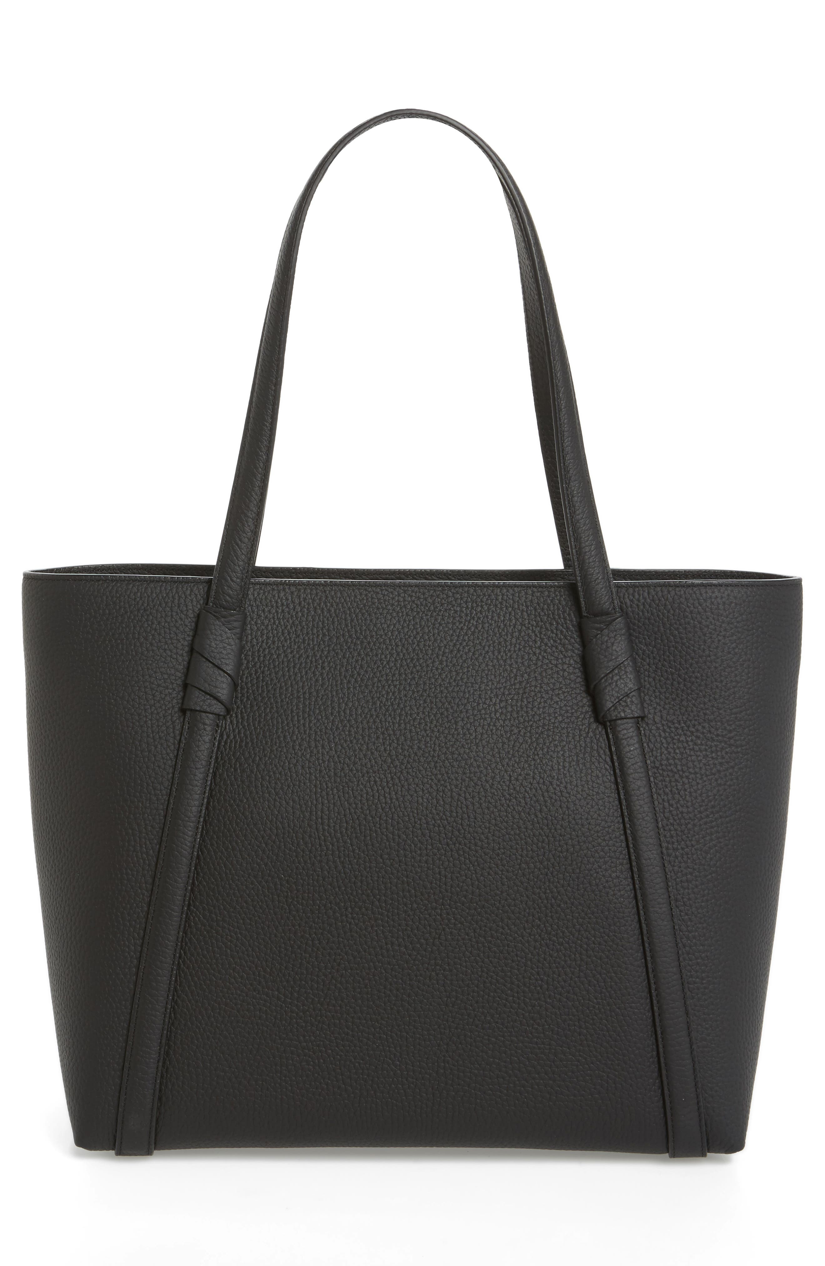 daniels drive - cherie leather tote,                             Alternate thumbnail 2, color,                             Black