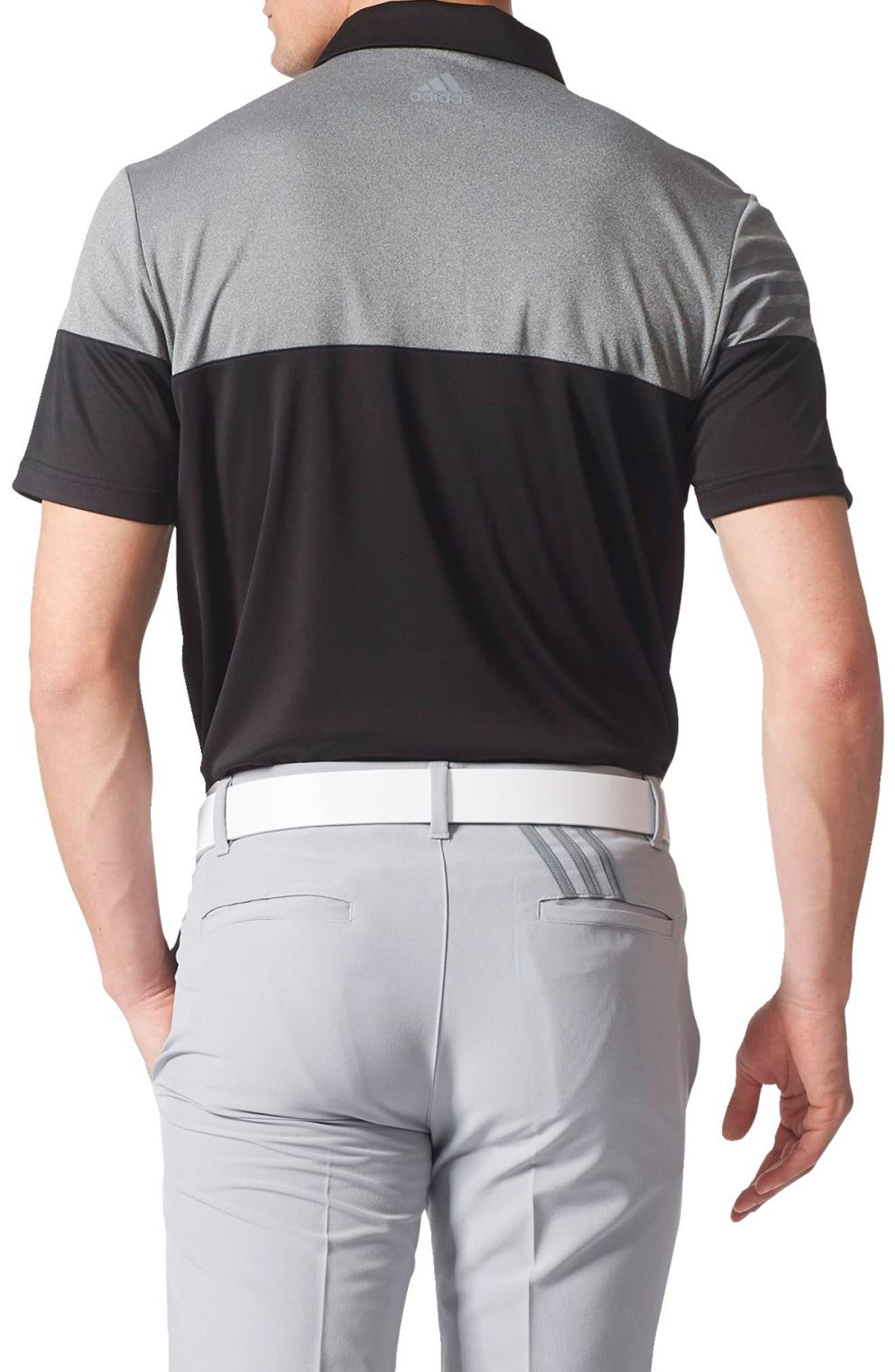 Alternate Image 2  - adidas 3 Stripe Block Golf Polo