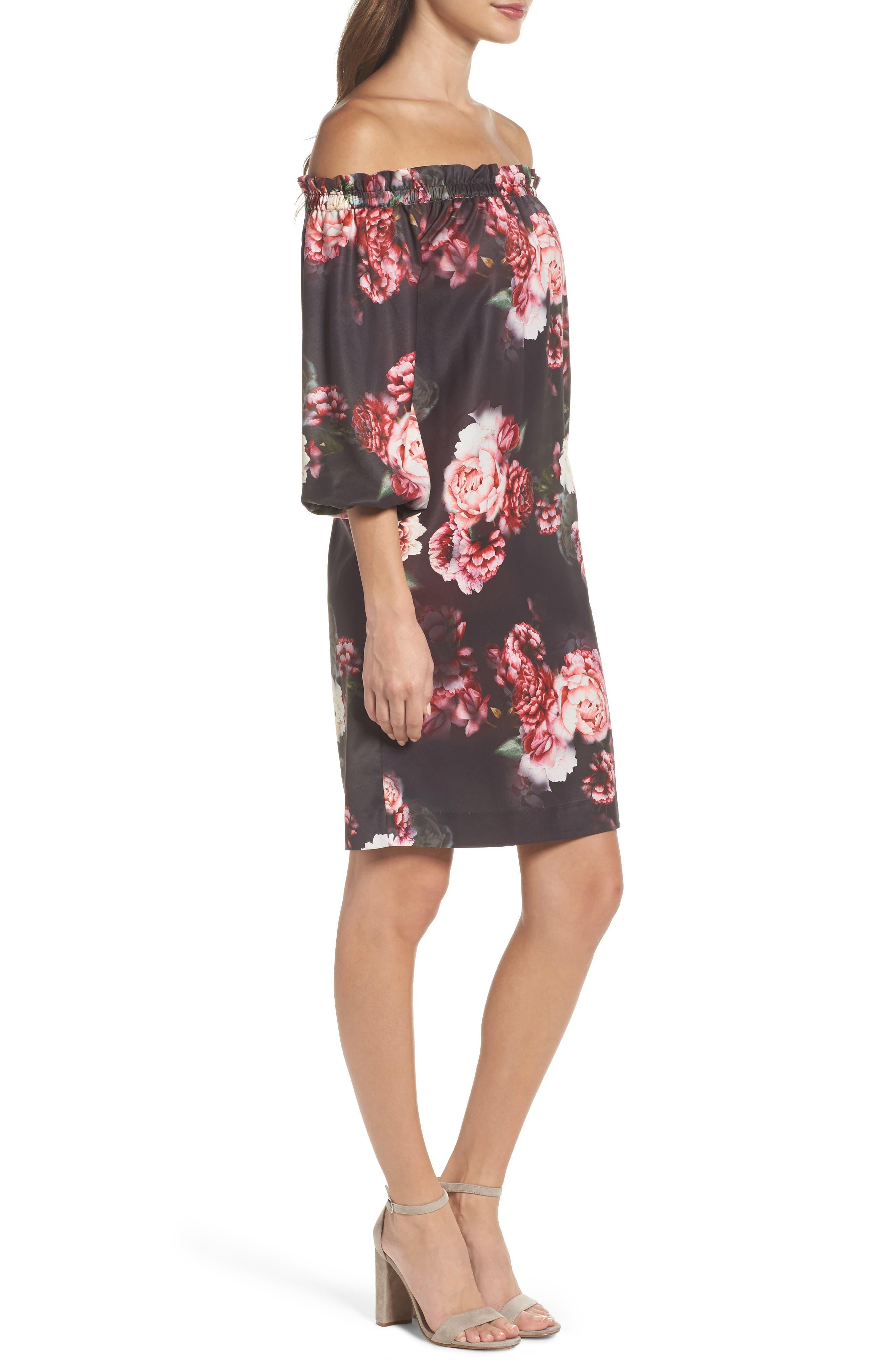 Alternate Image 3  - Felicity & Coco Print Off the Shoulder Shift Dress (Regular & Petite) (Nordstrom Exclusive)