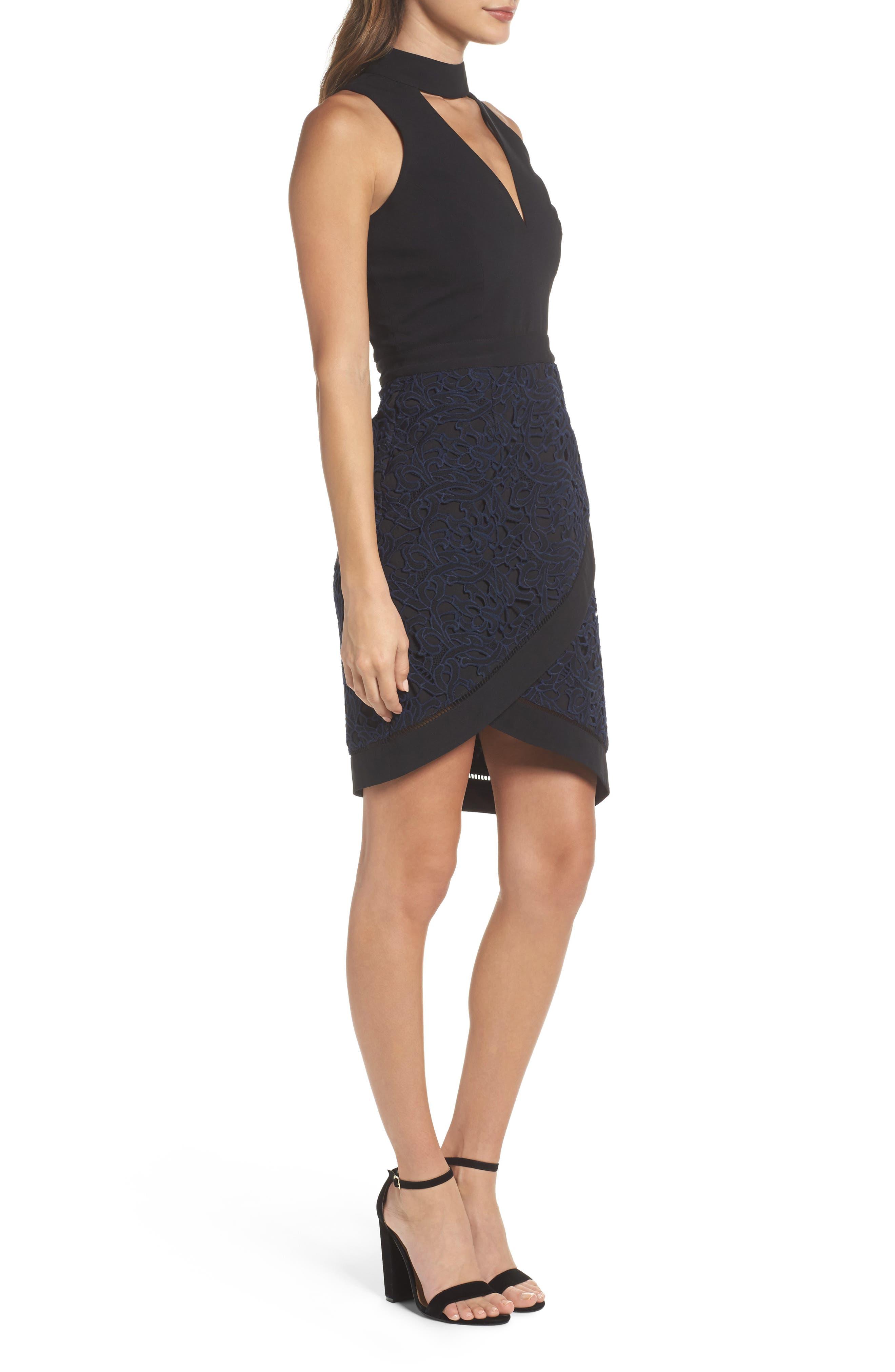 Alternate Image 3  - Adelyn Rae Choker Sheath Dress