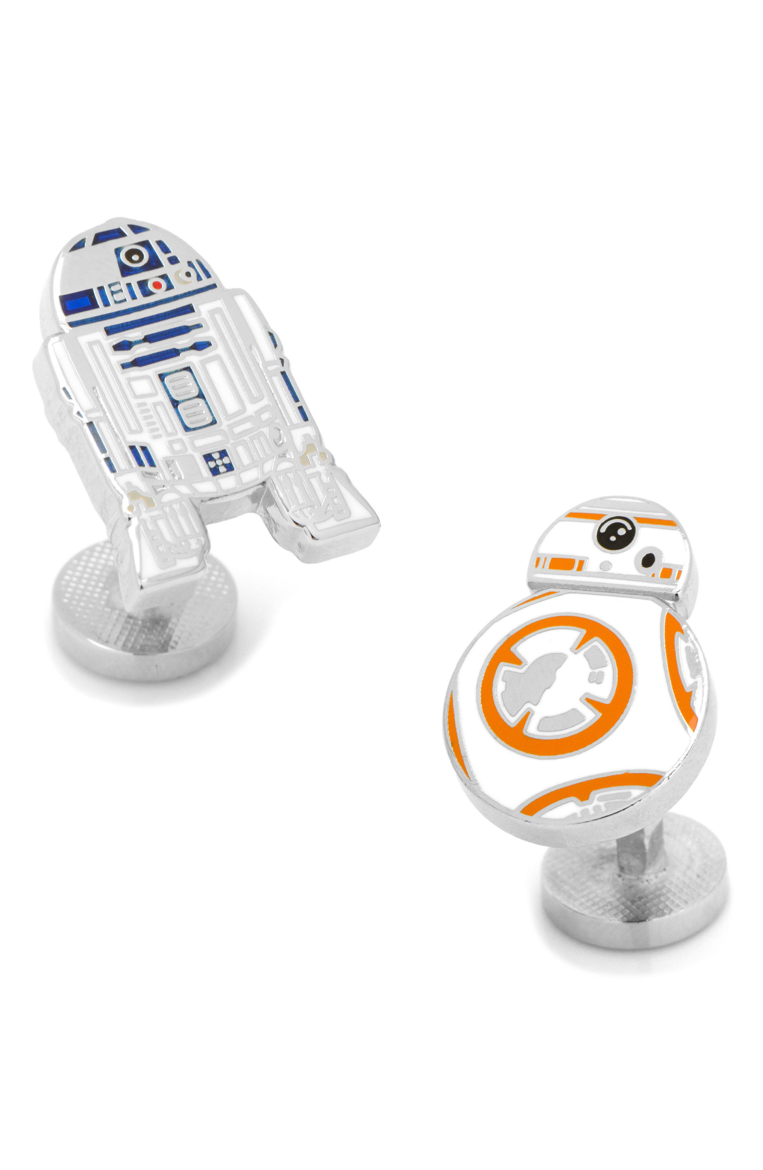 R2D2 & BB8 Cuff Links,                         Main,                         color, White