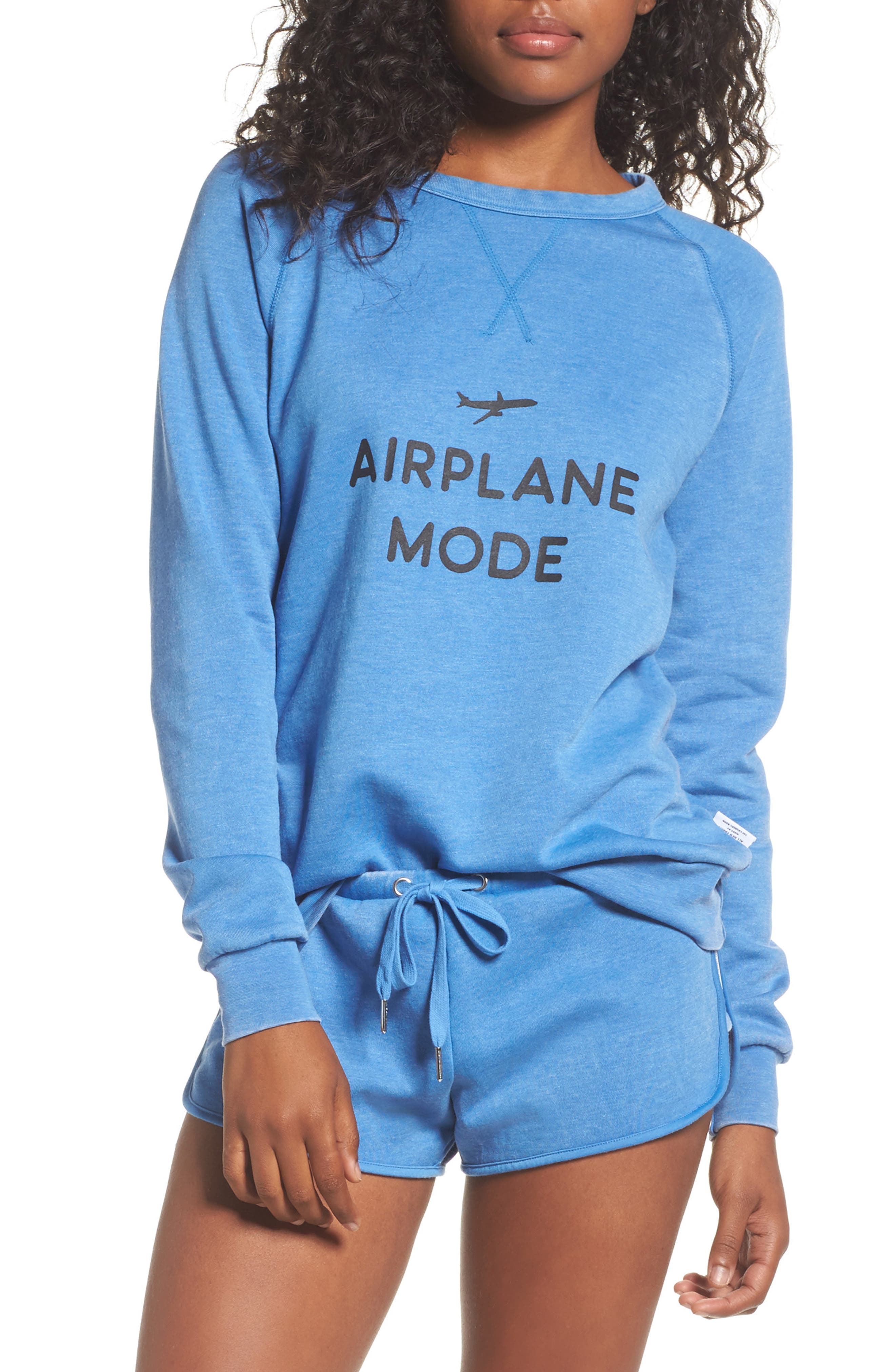 Alternate Image 1 Selected - The Laundry Room Airplane Mode Cozy Lounge Sweatshirt