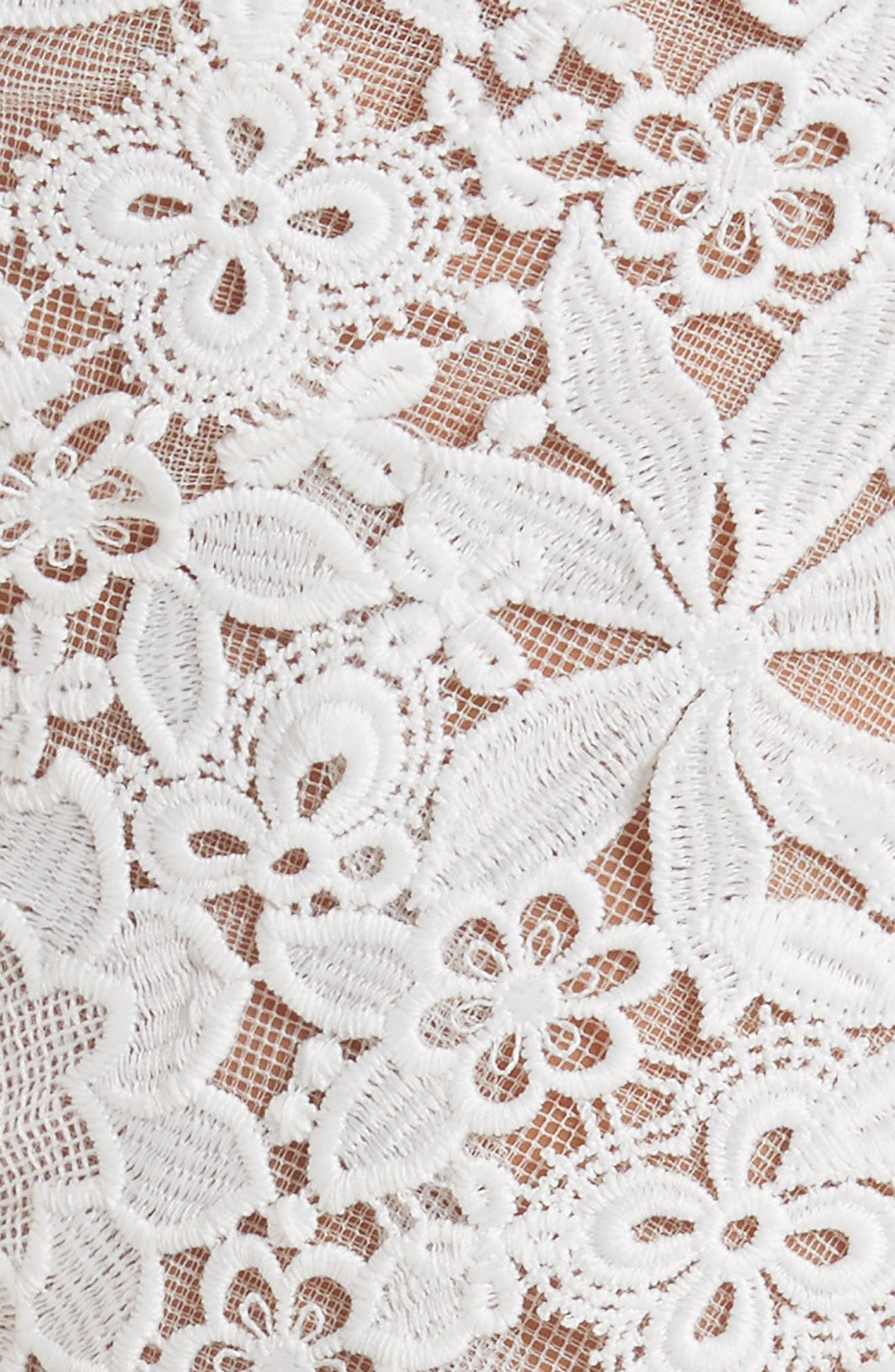 Guipure Lace Top,                             Alternate thumbnail 6, color,                             Silk White