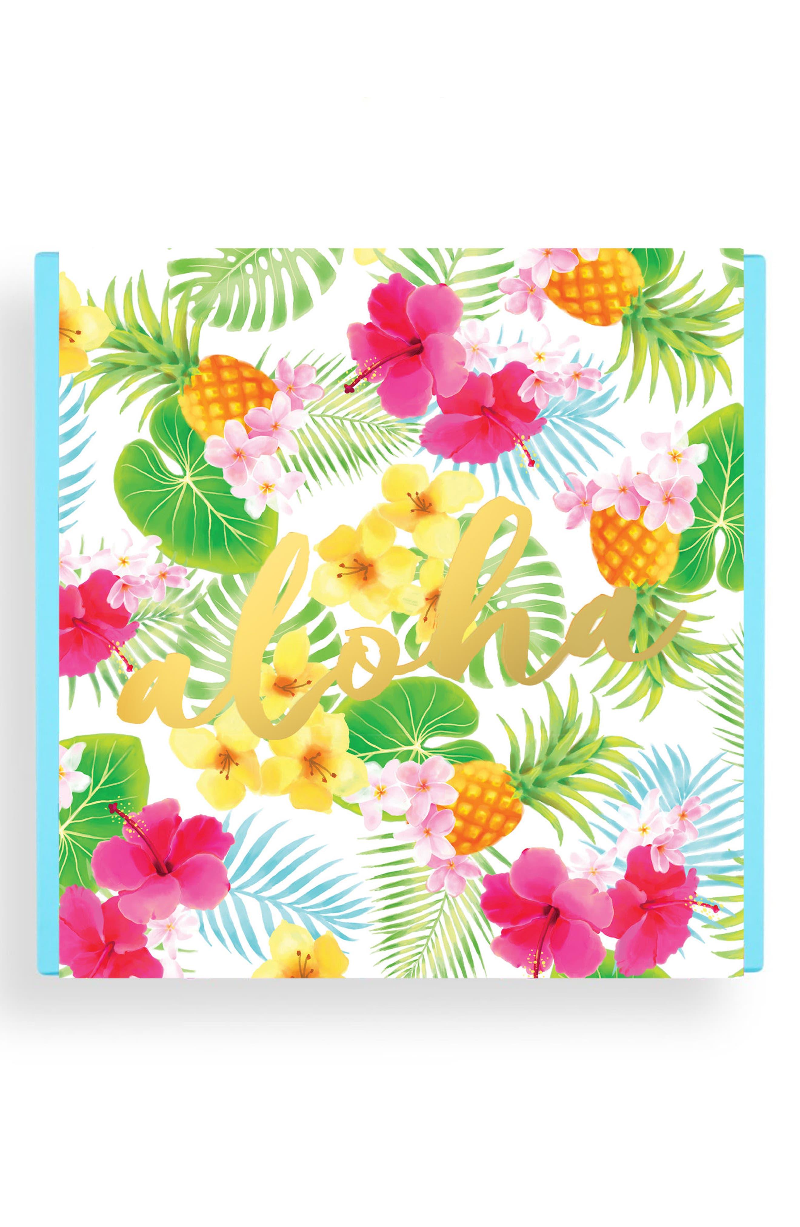 Aloha 4-Piece Candy Bento Box,                             Alternate thumbnail 2, color,                             Blue