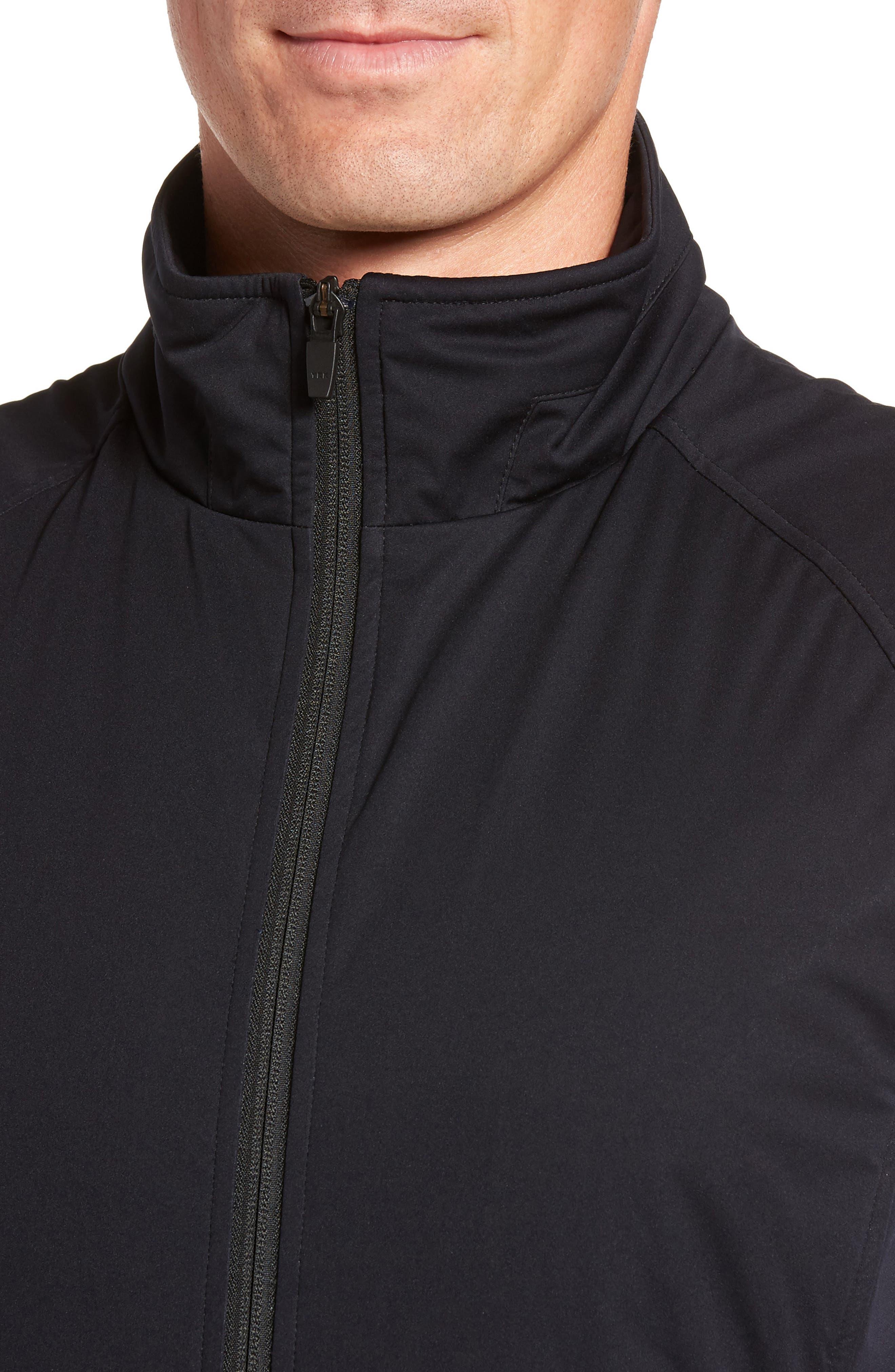 Soft Shell Zip Vest,                             Alternate thumbnail 4, color,                             Black