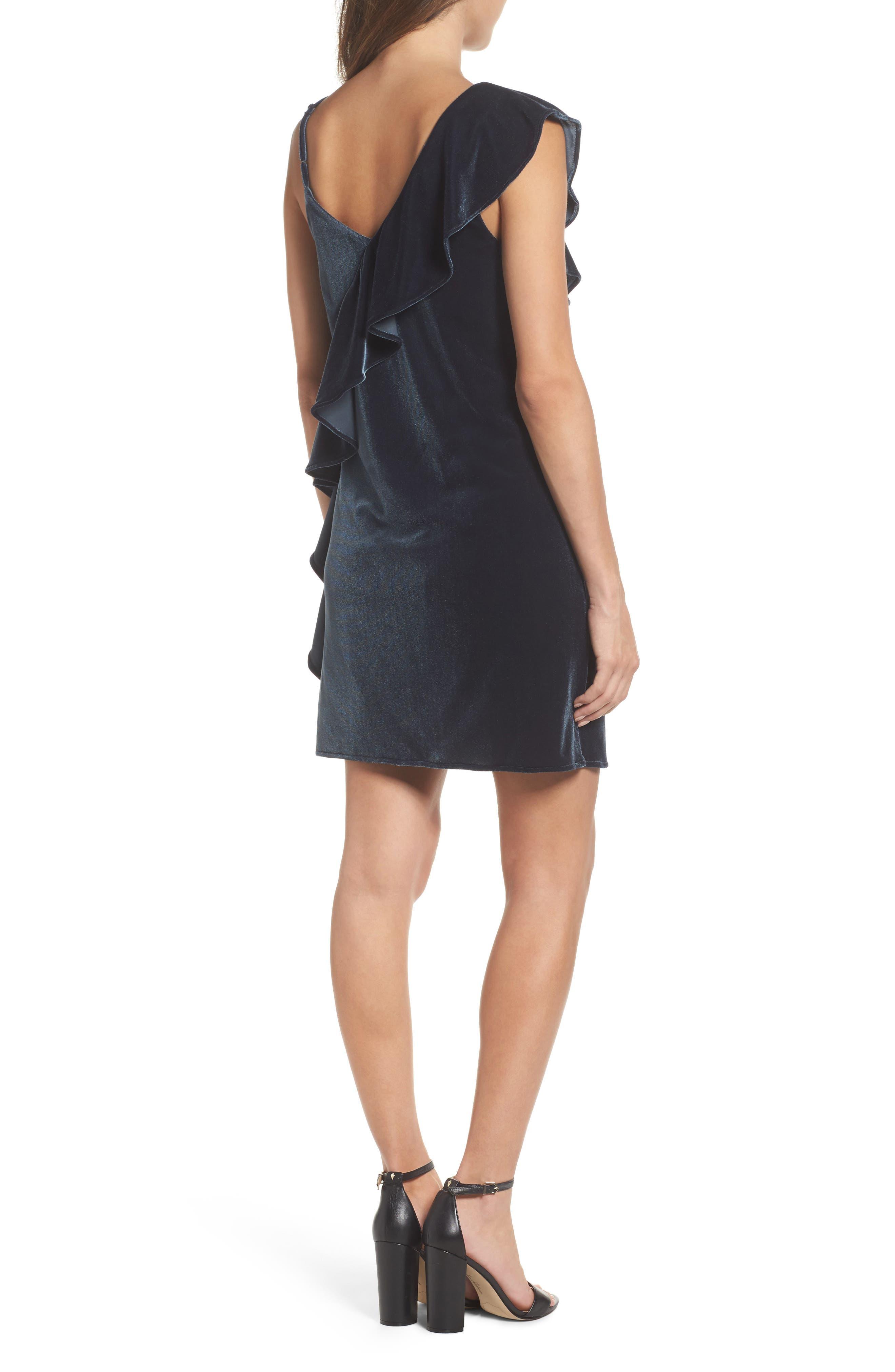 Alternate Image 2  - 19 Cooper Ruffle Velvet Dress