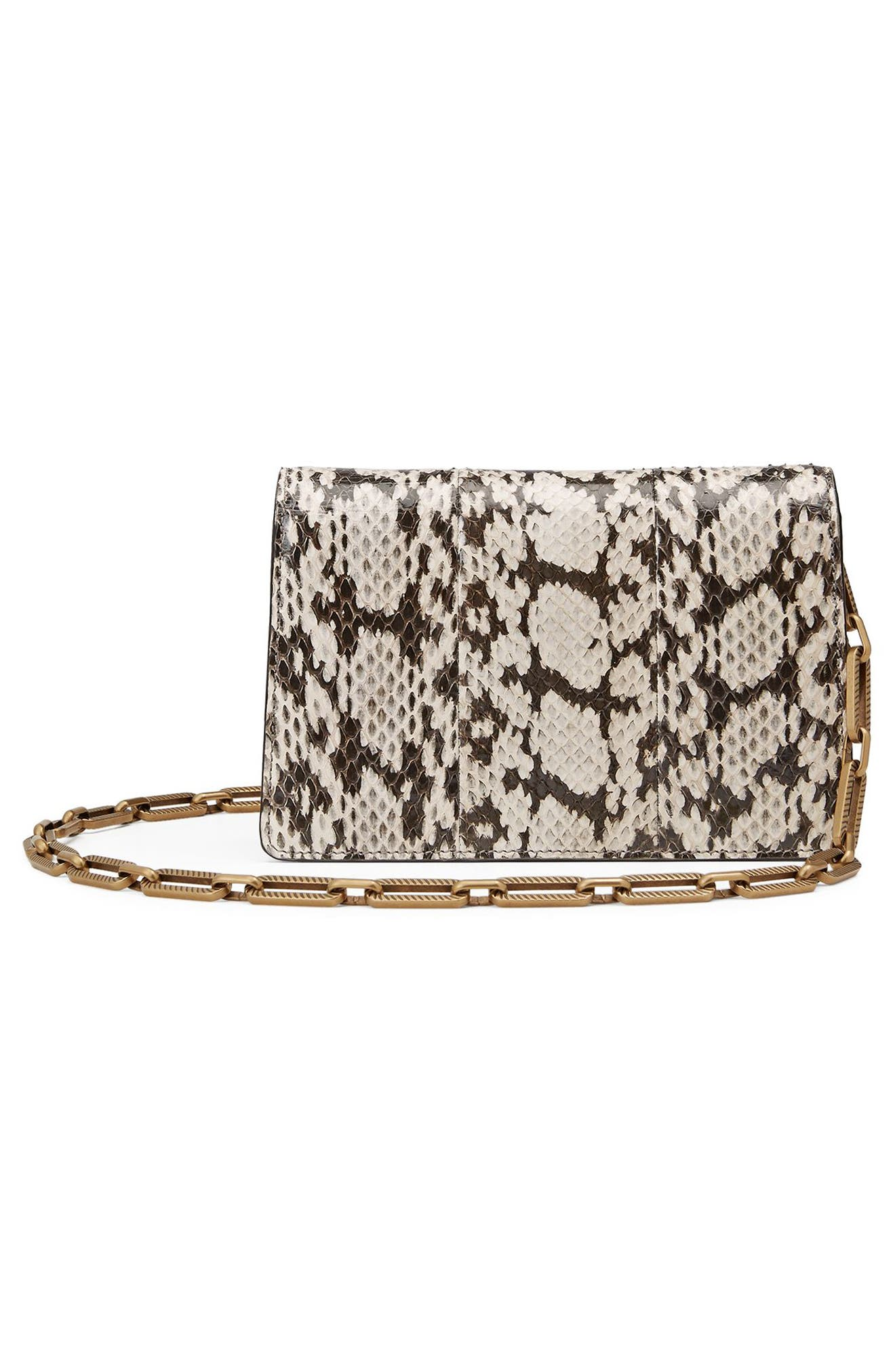 Alternate Image 2  - Gucci Mini Broadway Bee Genuine Snakeskin Shoulder Bag