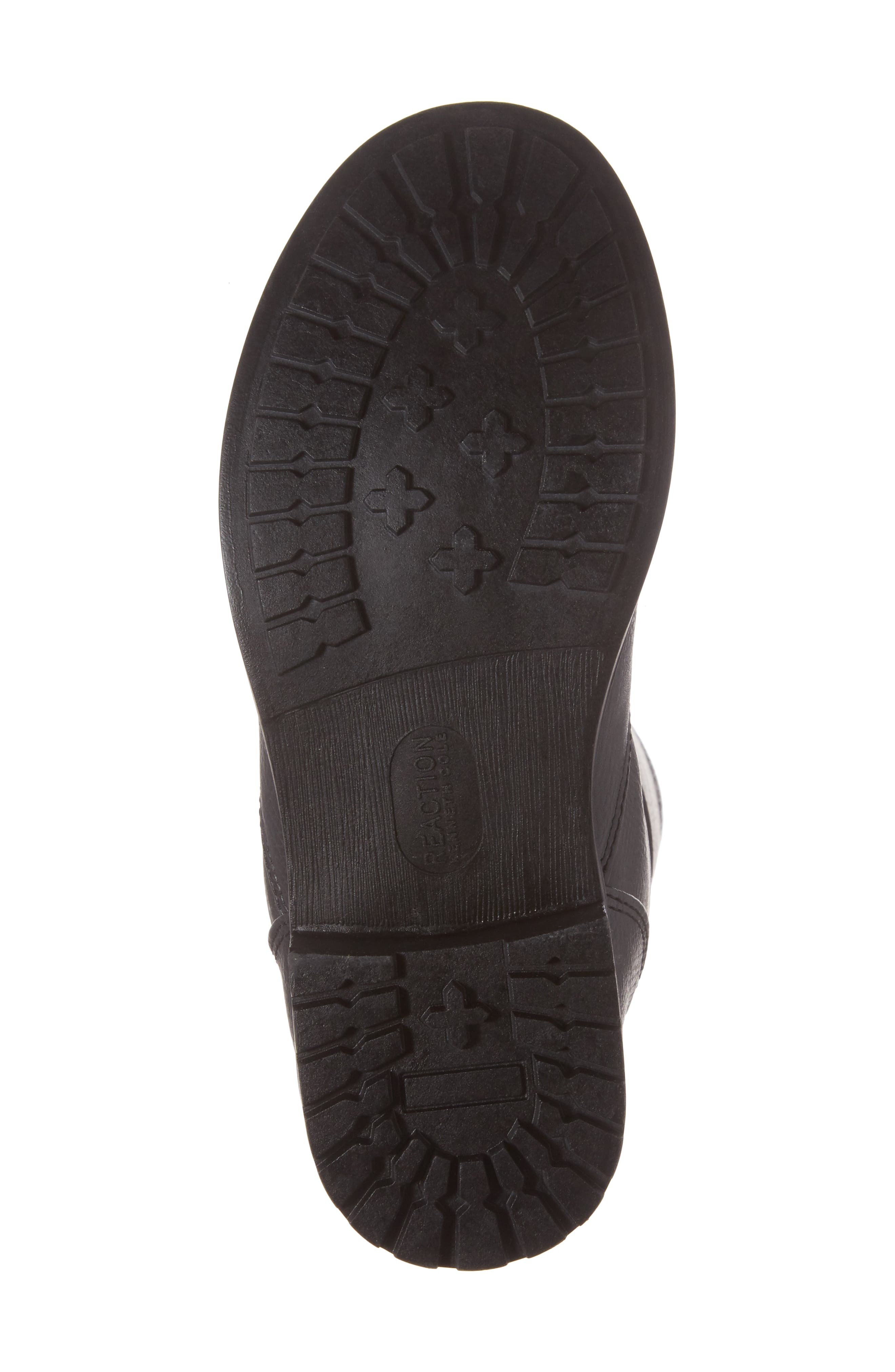 Autumn Stretch Boot,                             Alternate thumbnail 6, color,                             Black Faux Leather