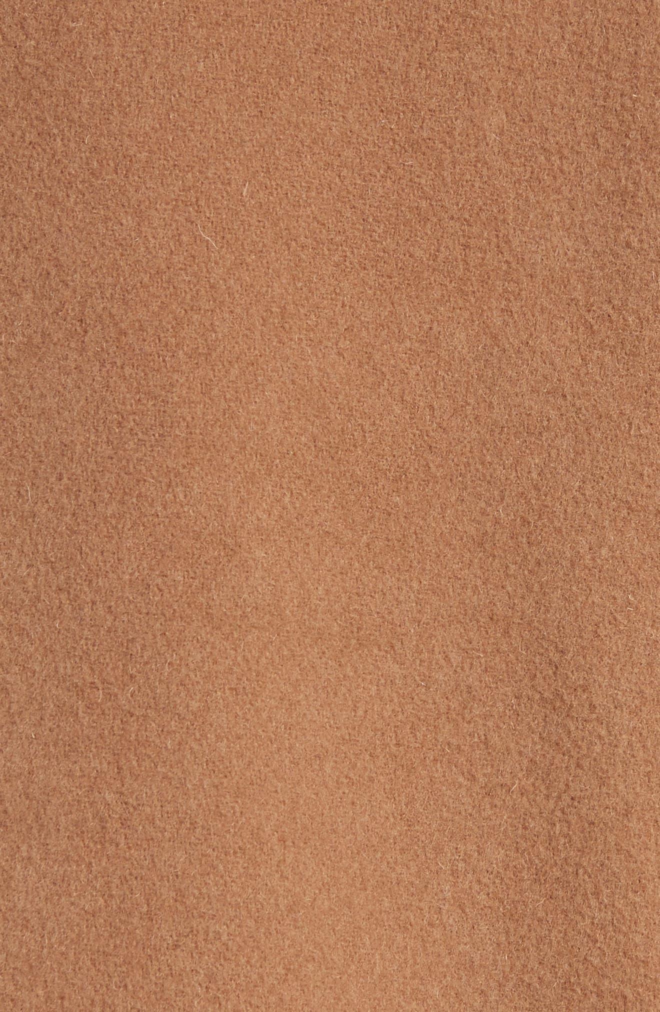 Mersey Wool Blend Duffle Coat,                             Alternate thumbnail 5, color,                             Mid Camel
