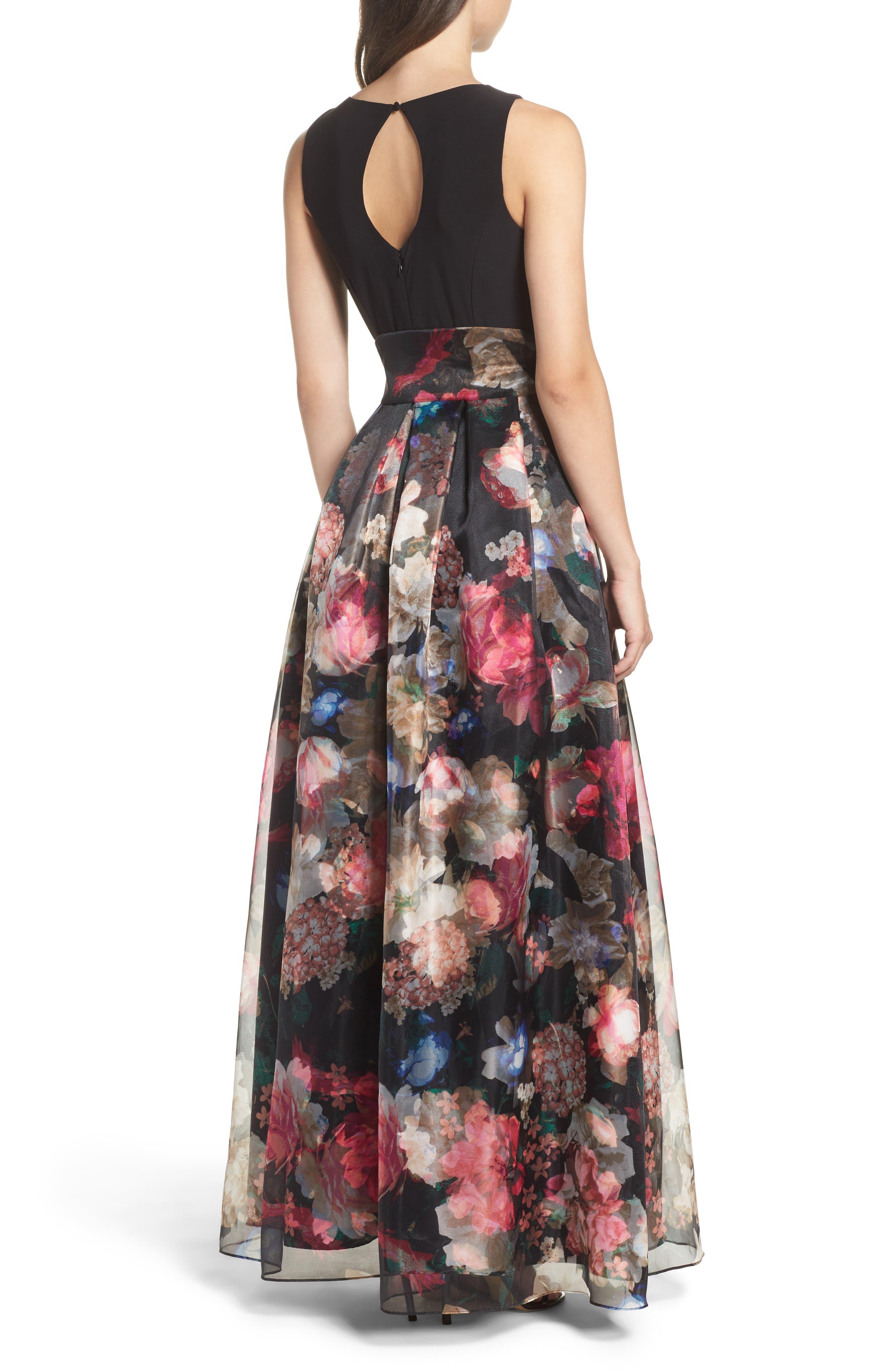 Alternate Image 2  - Eliza J Jersey & Organza Gown