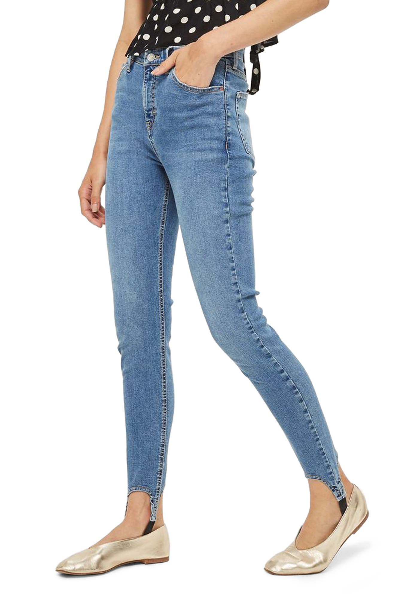 Topshop Jamie High Rise Skinny Stirrup Jeans