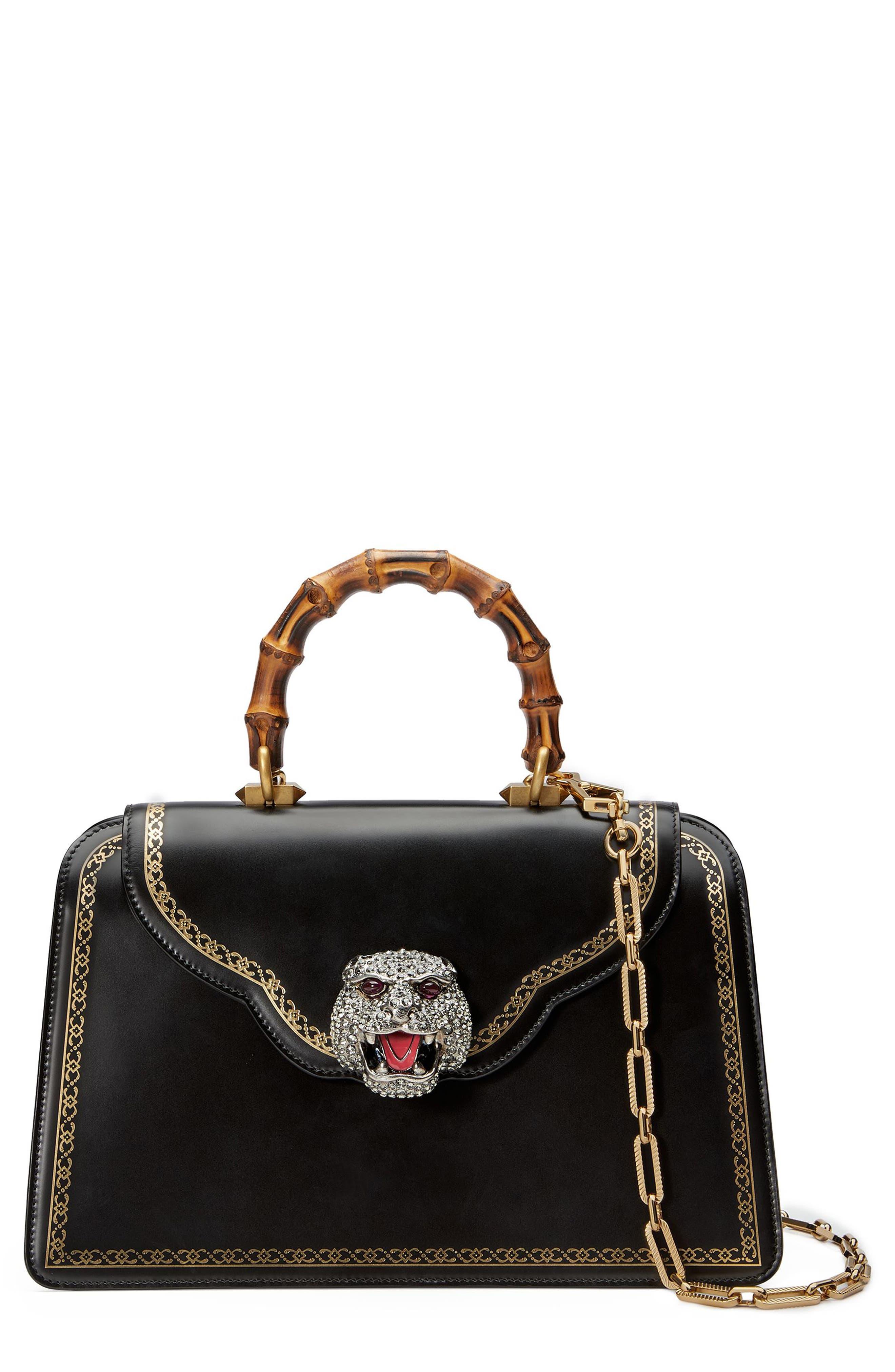 Alternate Image 1 Selected - Gucci Gatto Medium Top Handle Bag