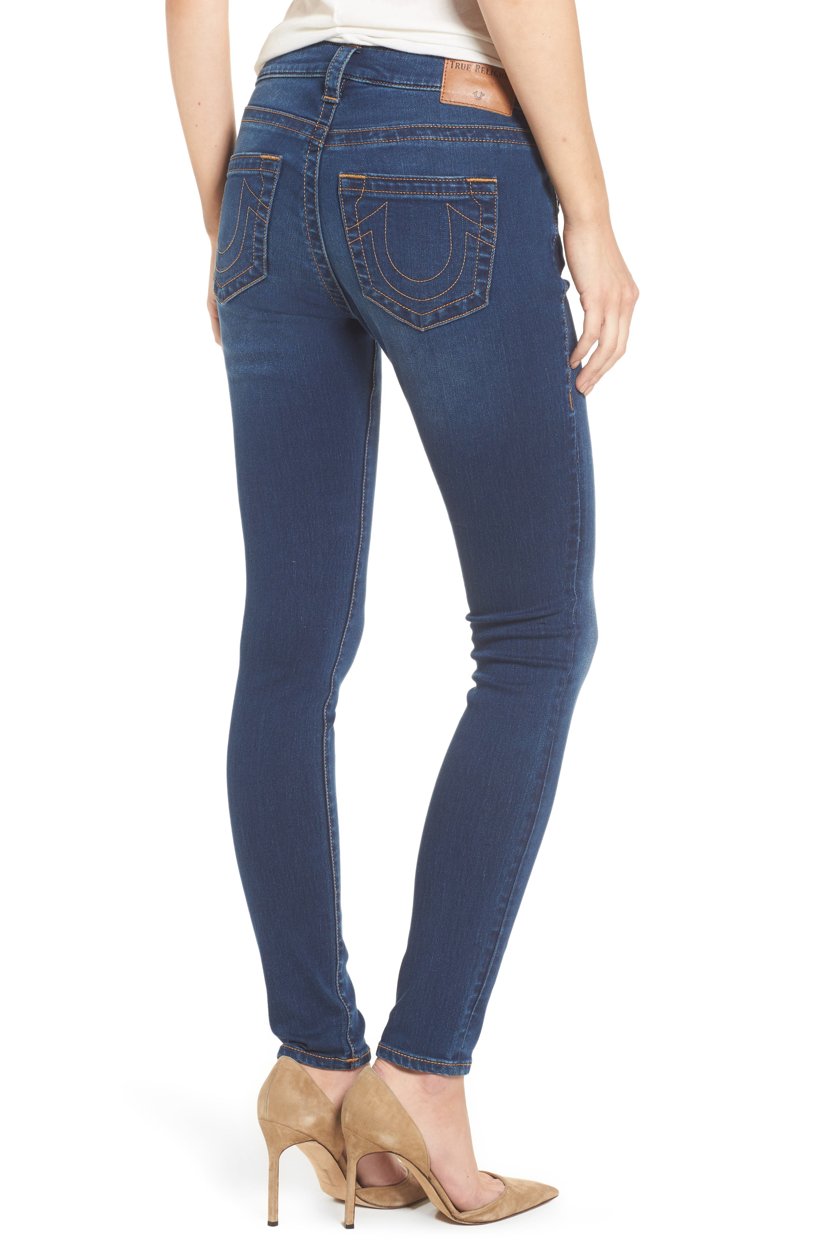 Jennie Curvy Skinny Jeans,                             Alternate thumbnail 2, color,                             Lands End Indigo