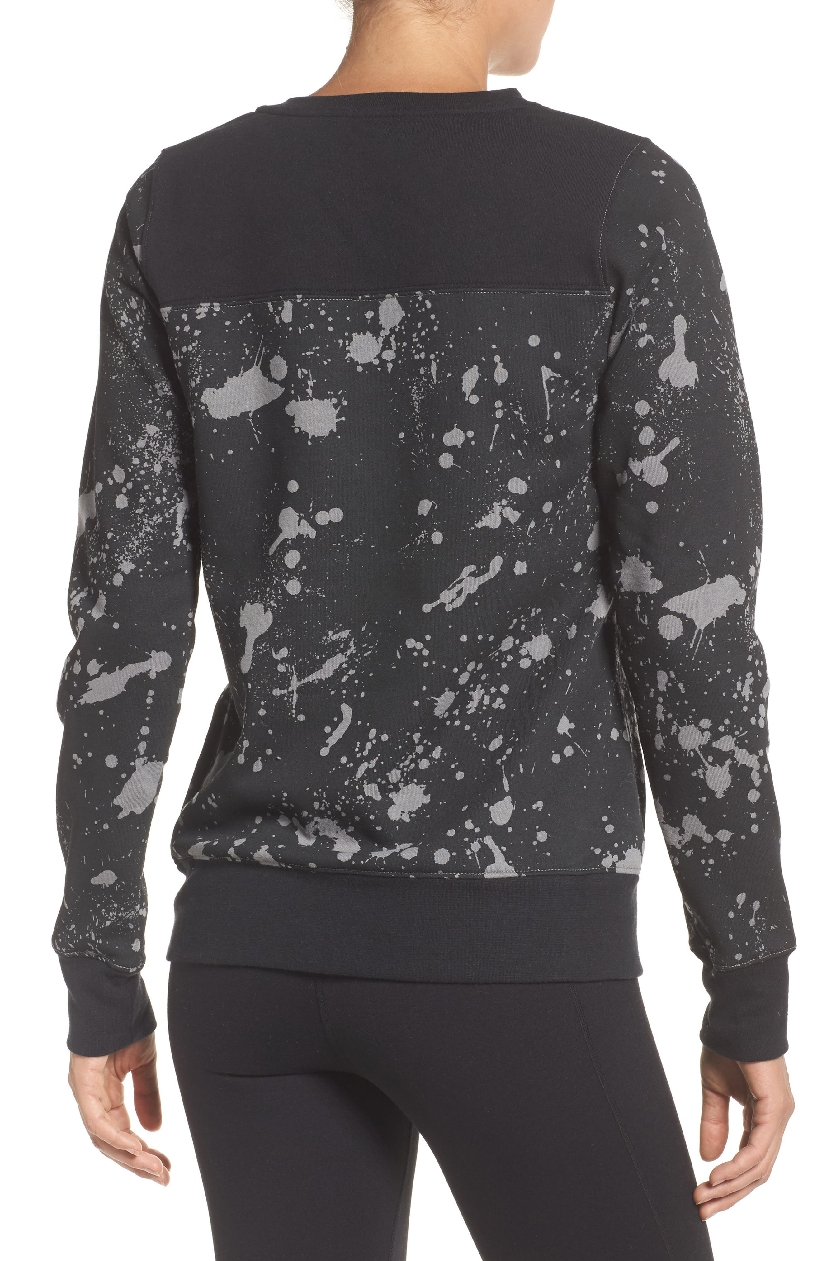 Half Dome Sweatshirt,                             Alternate thumbnail 2, color,                             Tnf Black Splatter Print