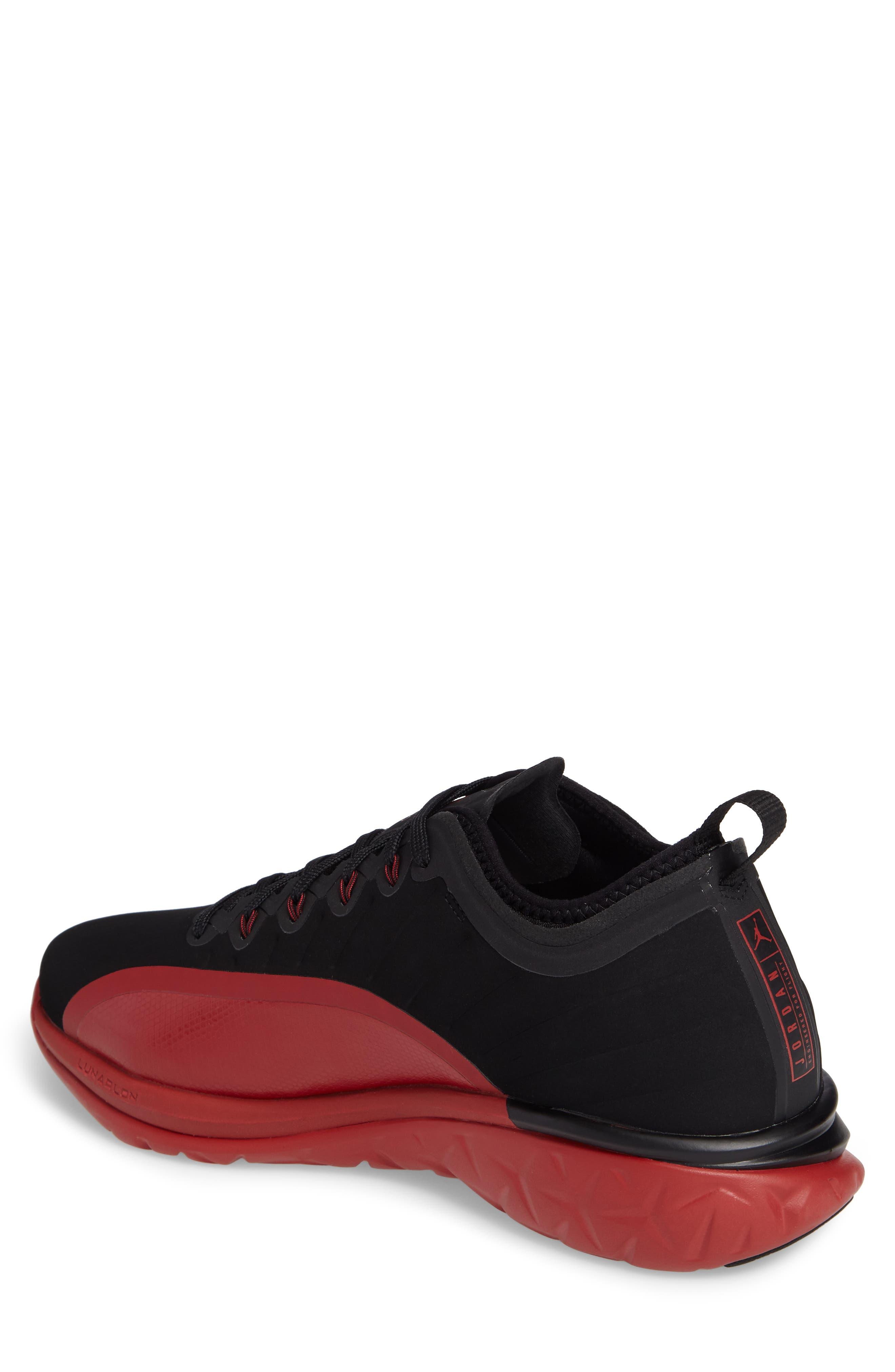 Jordan Trainer Prime Sneaker,                             Alternate thumbnail 2, color,                             Black/ Black/ Gym Red