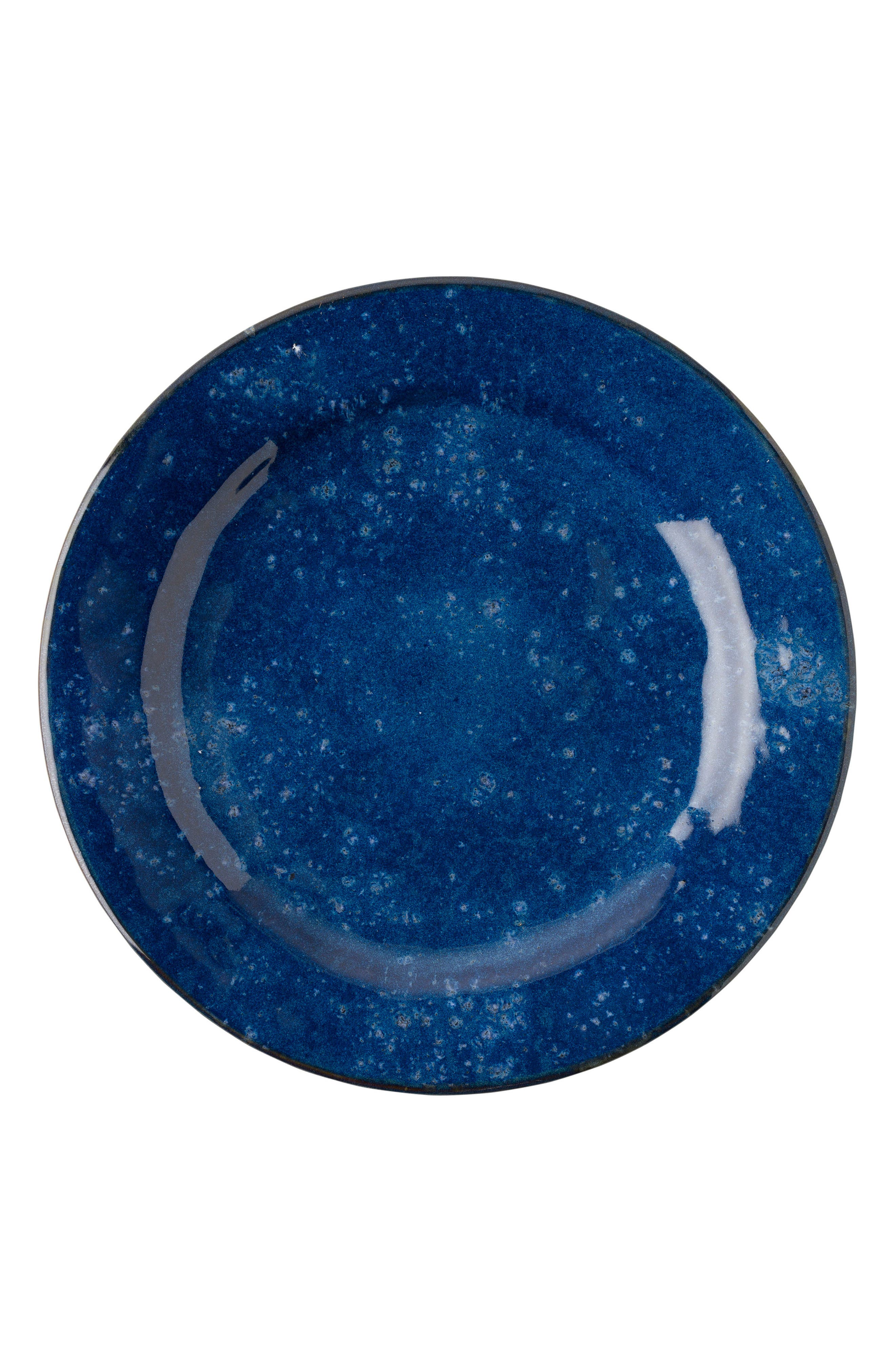 Puro Cobalt Ceramic Dinner Plate,                         Main,                         color, Dappled Cobalt