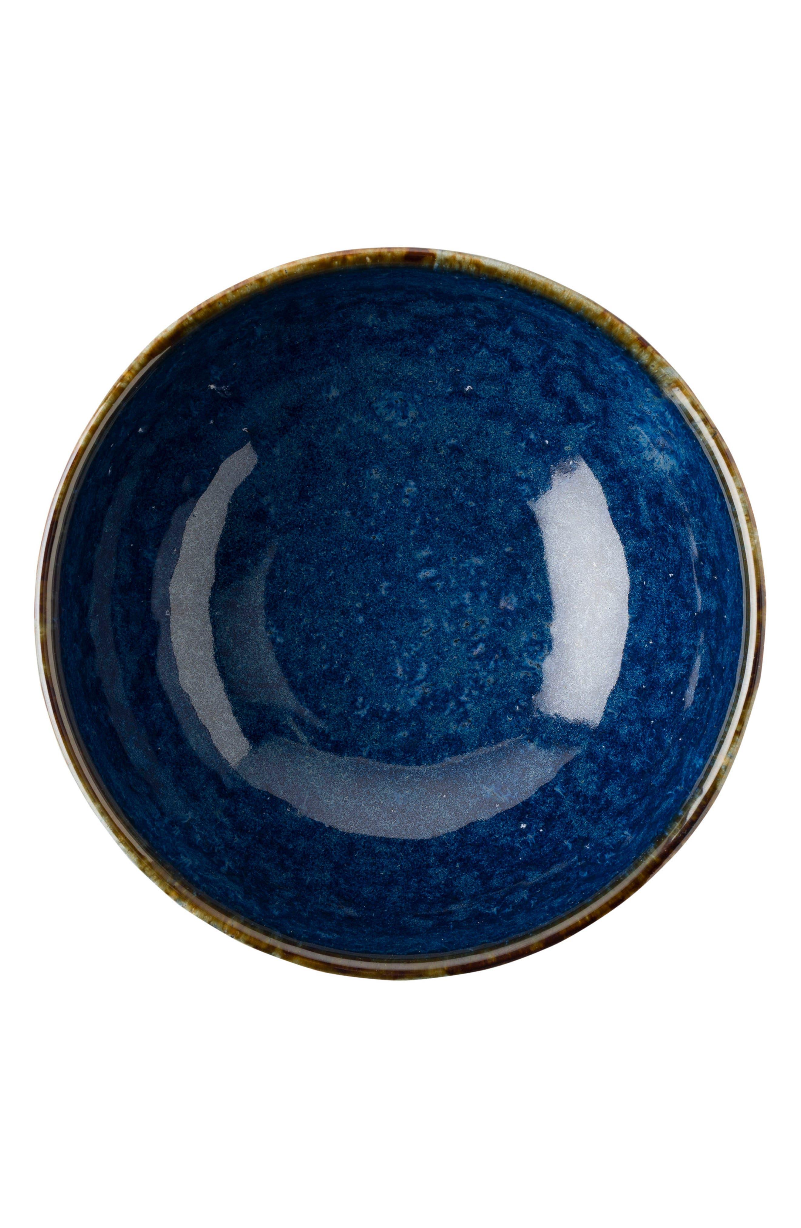 Puro Cobalt Ceramic Bowl,                         Main,                         color, Dappled Cobalt