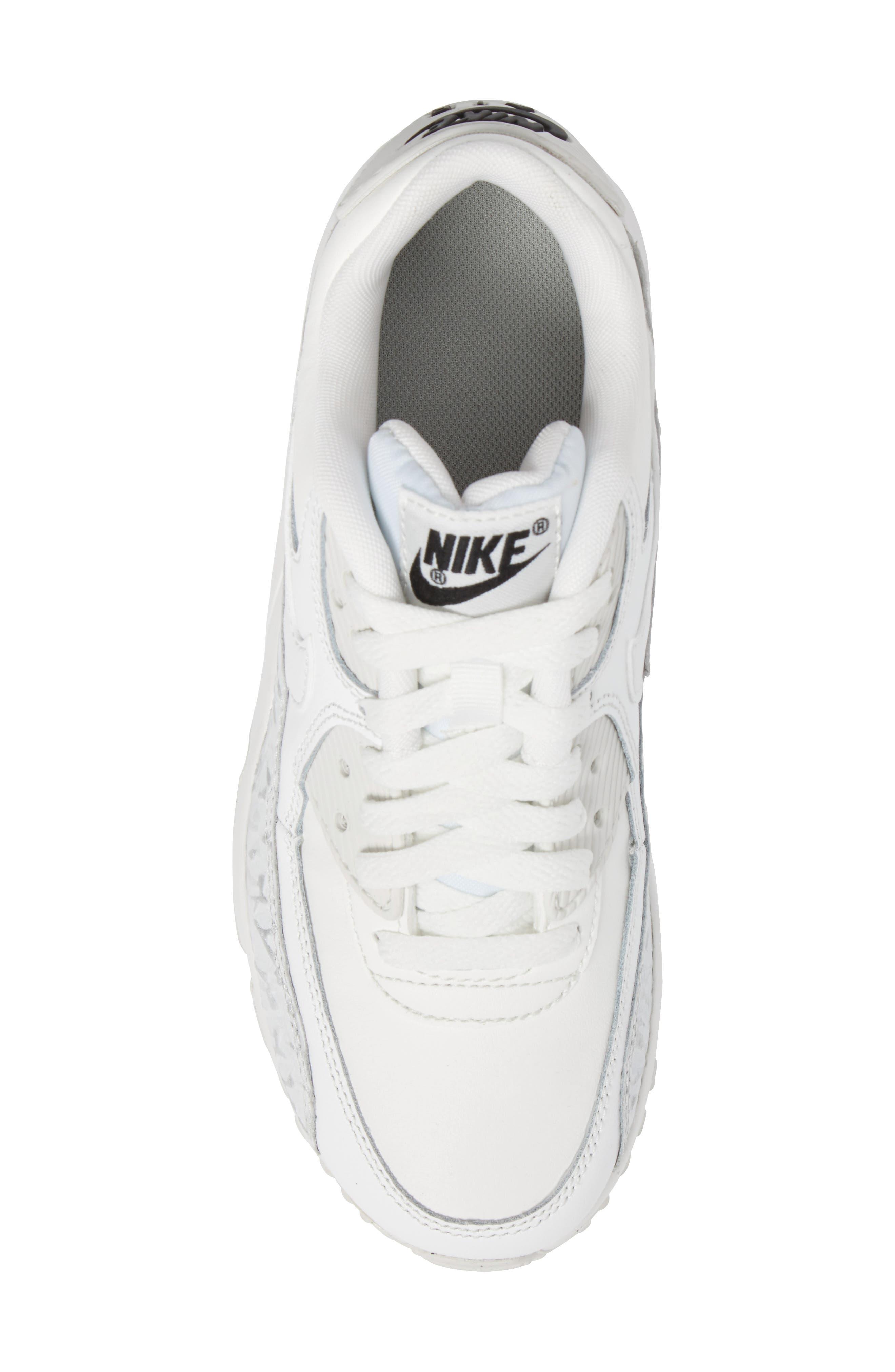 Alternate Image 5  - Nike Air Max 90 Leather Sneaker (Big Kid)