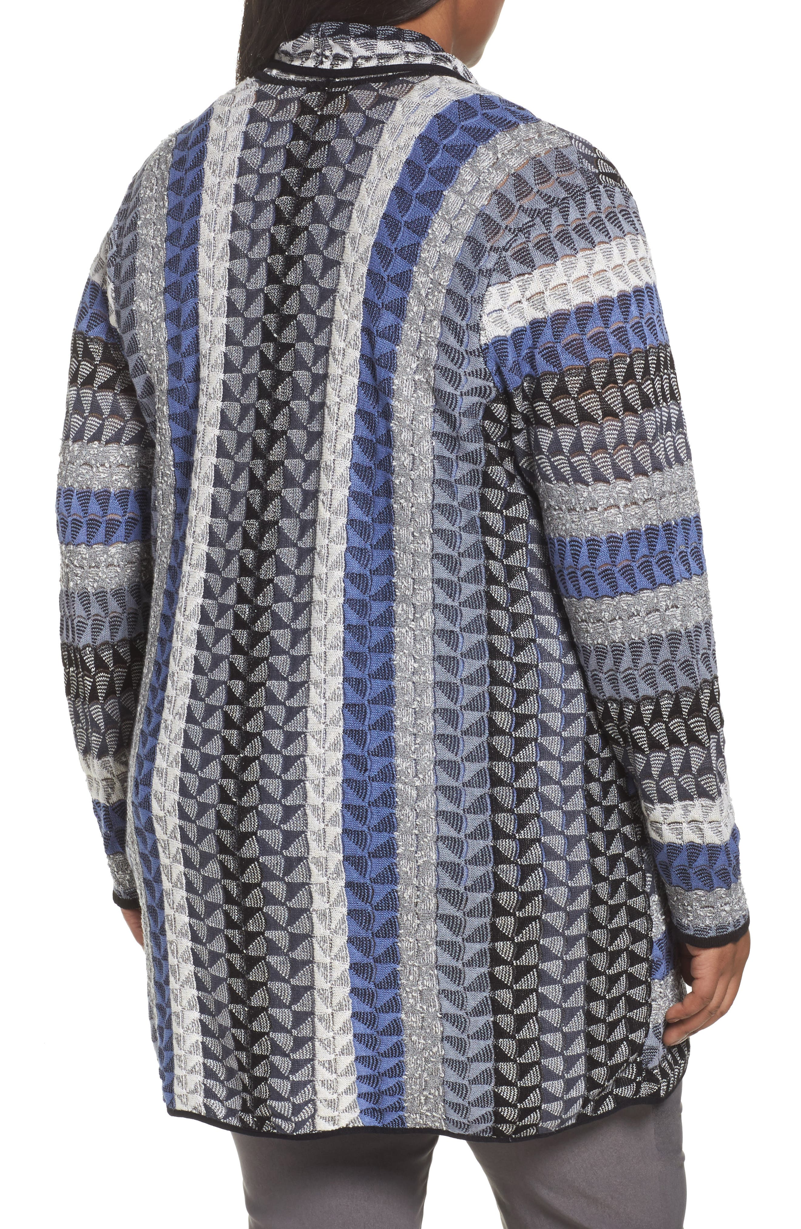 Alternate Image 2  - NIC+ZOE Triangle Bliss Cardigan (Plus Size)