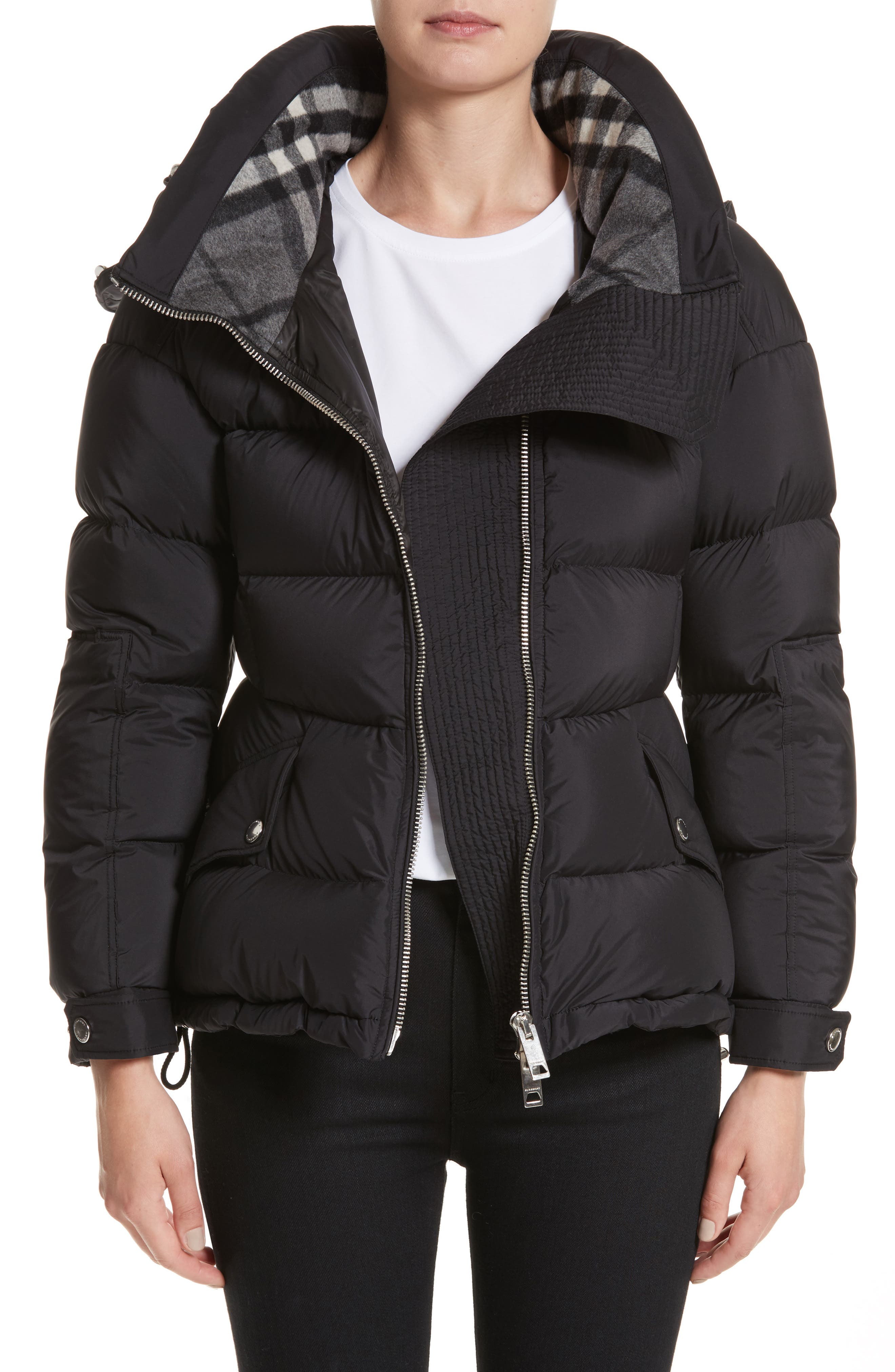 Main Image - Burberry Fleetwood Hooded Down Puffer Jacket