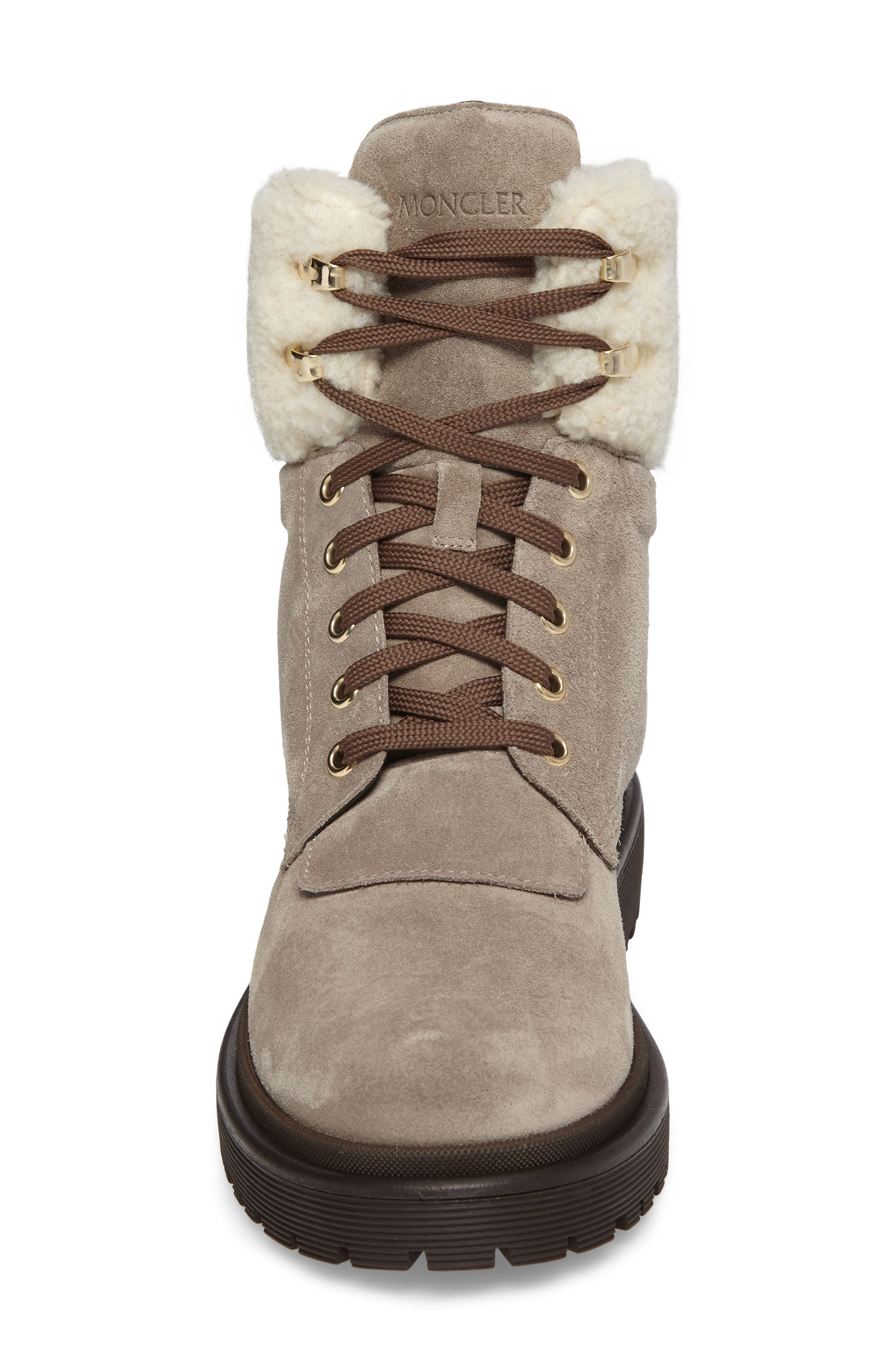 Patty Scarpa Faux Shearling Cuff Boot,                             Alternate thumbnail 4, color,                             Beige