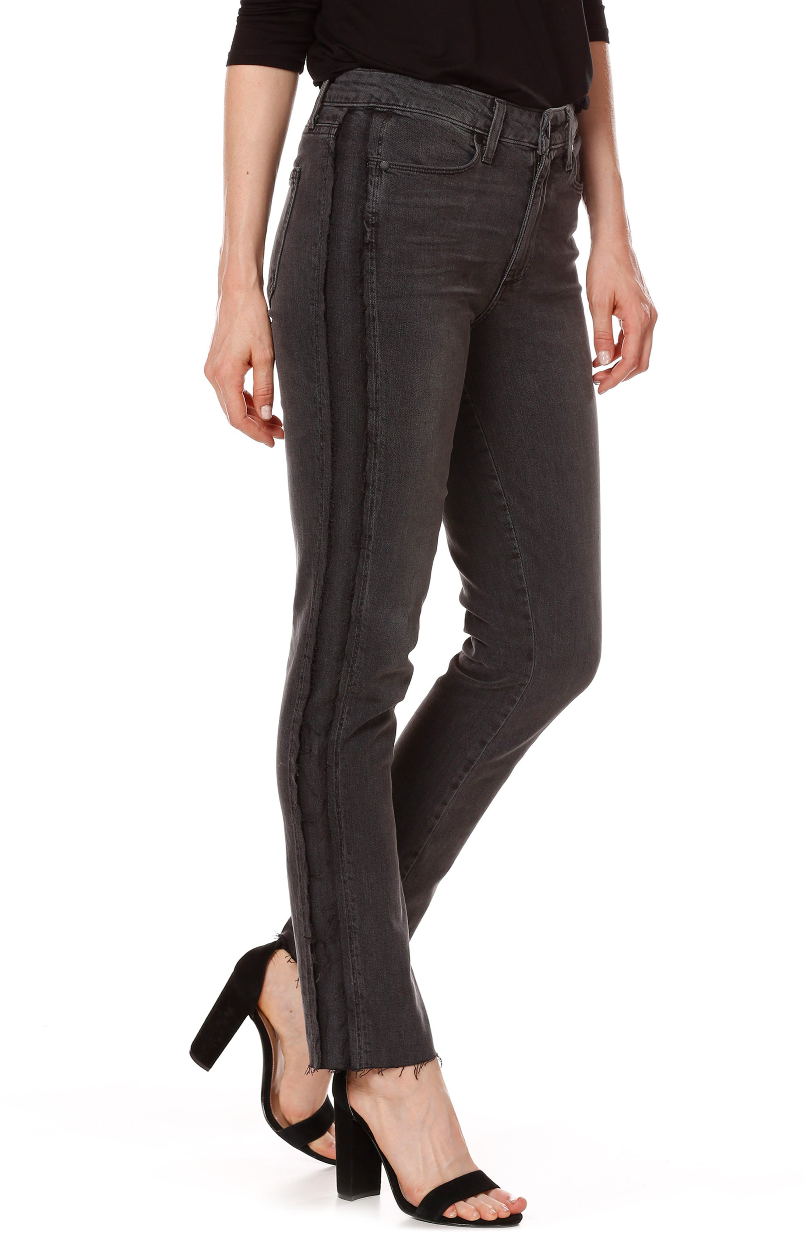 Alternate Image 3  - PAIGE Julia Tux Straight Leg Jeans (Midnight Racer)