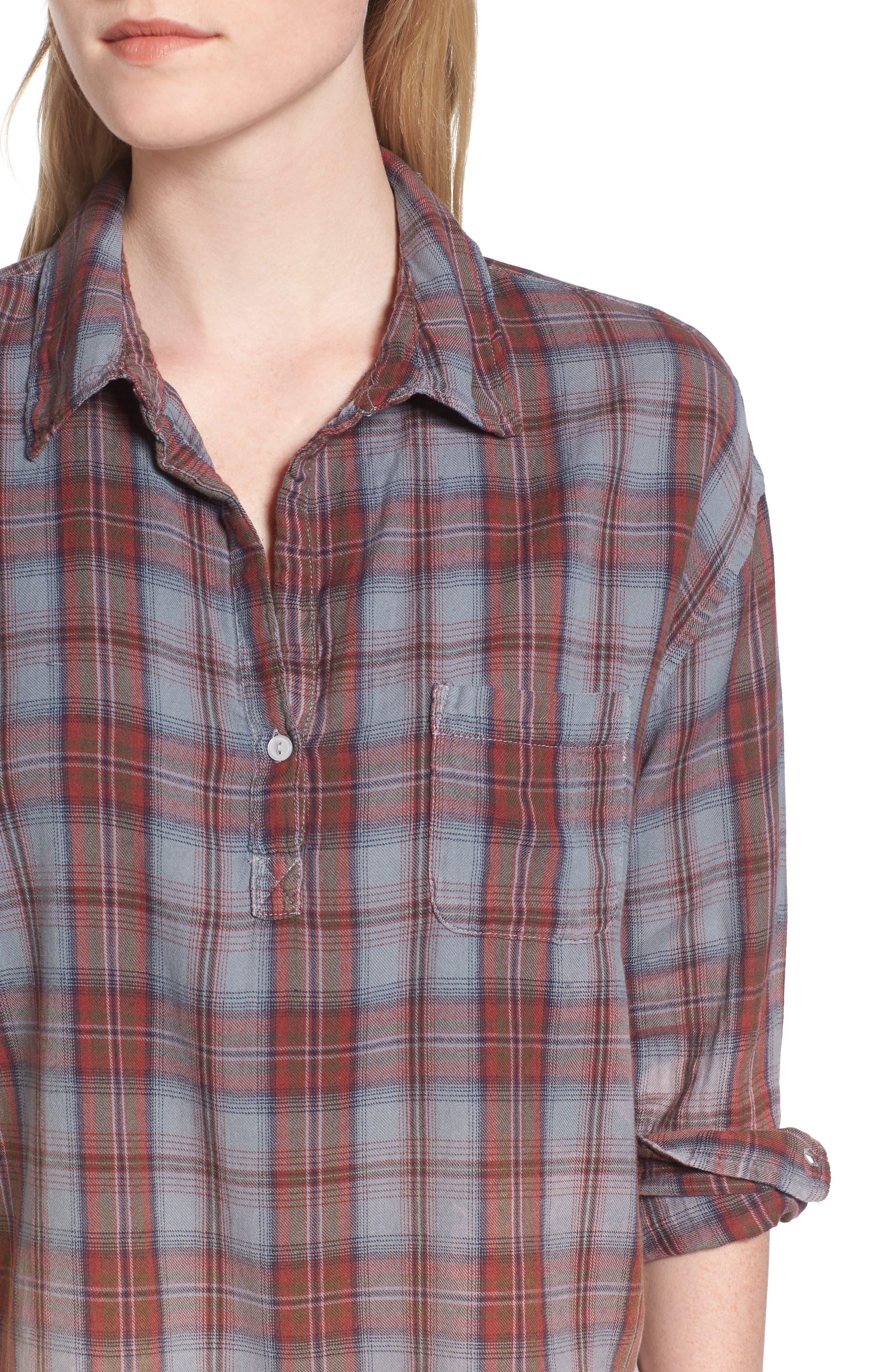 Alternate Image 4  - Sundry Plaid Pocket Shirt