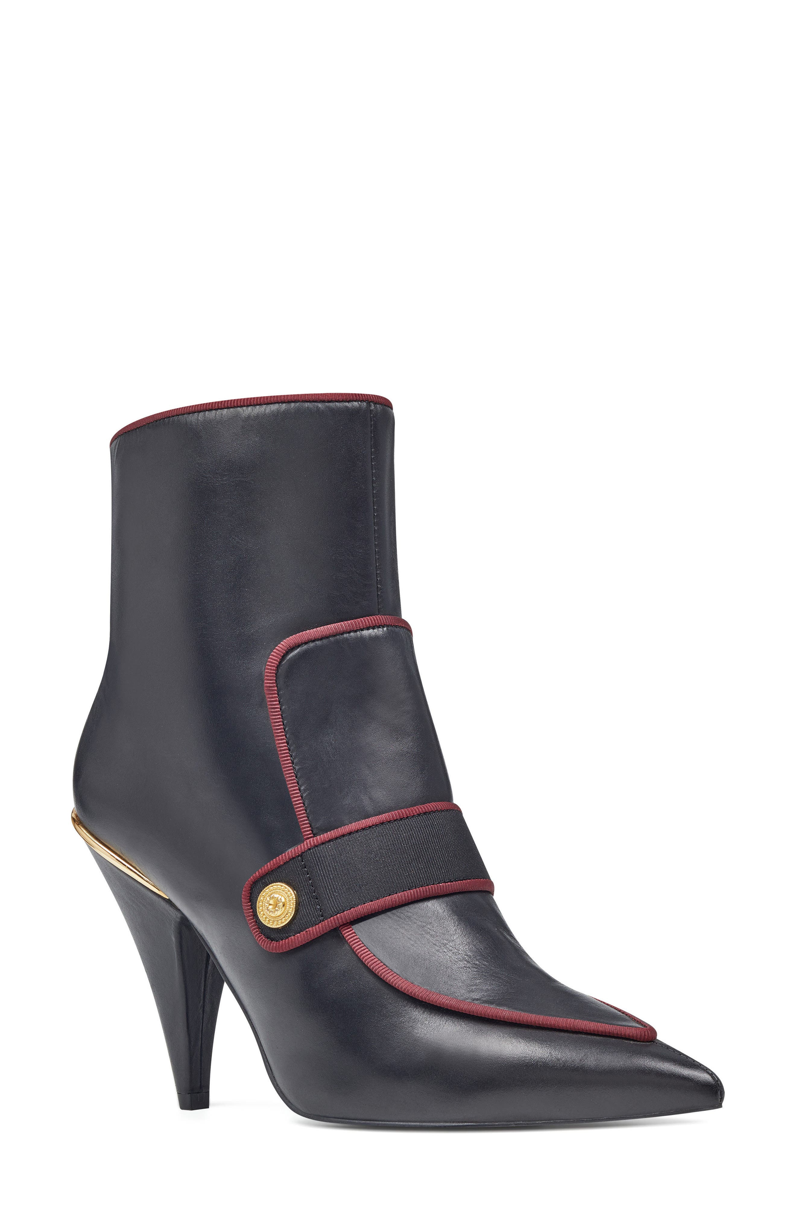 Westham Pointy Toe Bootie,                         Main,                         color, Black/ Wine Leather