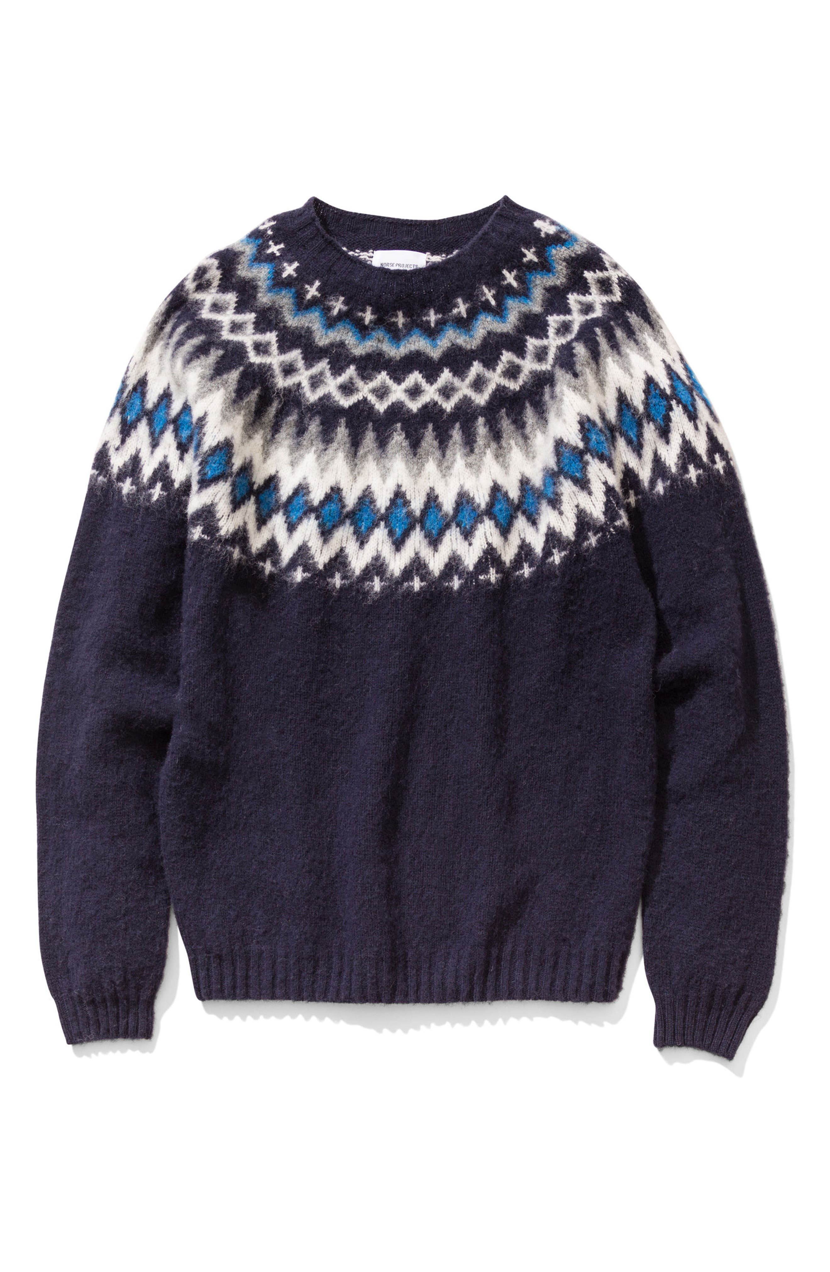 Nirnir Fair Isle Lambswool Sweater,                             Alternate thumbnail 10, color,
